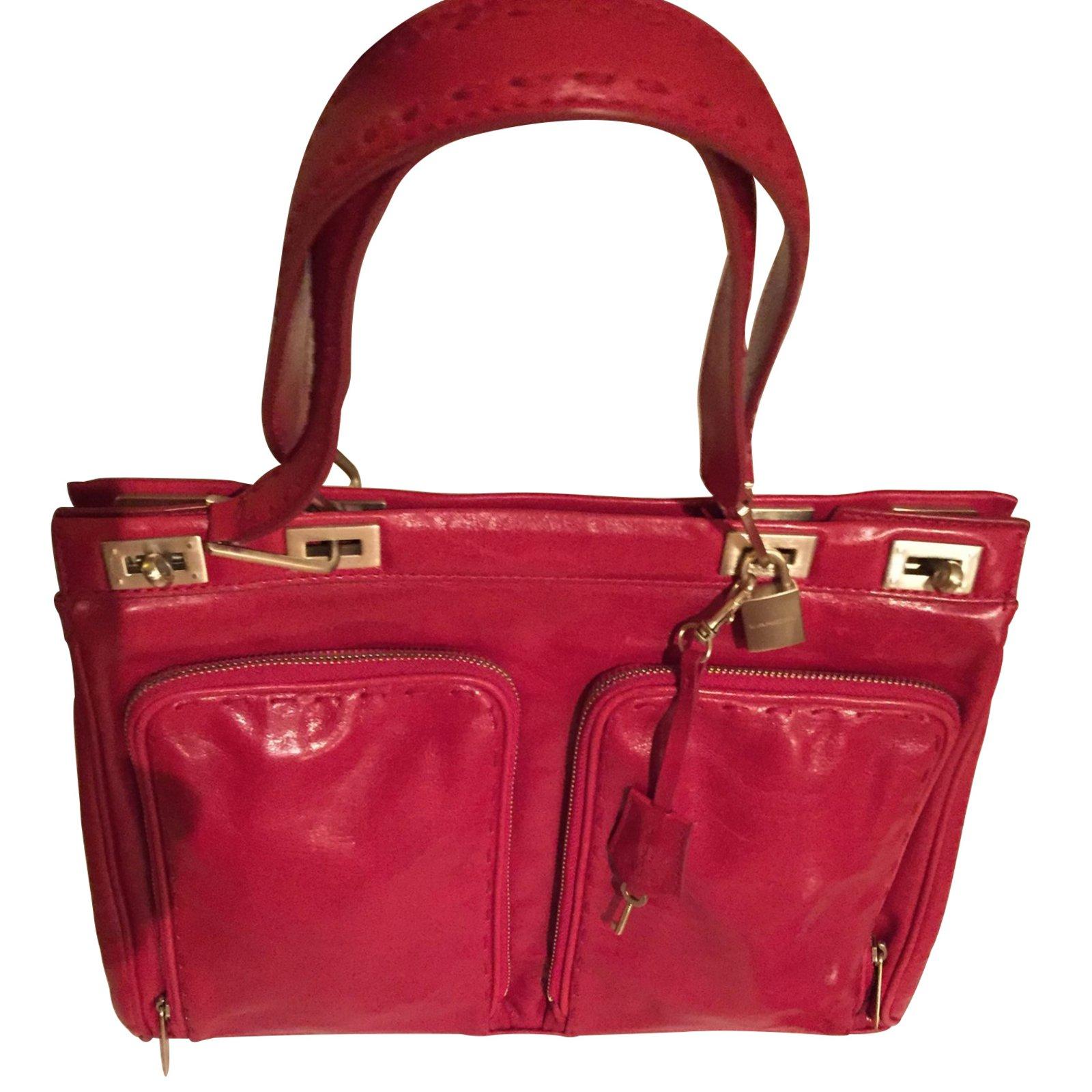 sacs main lancel sacs main cuir rouge joli. Black Bedroom Furniture Sets. Home Design Ideas