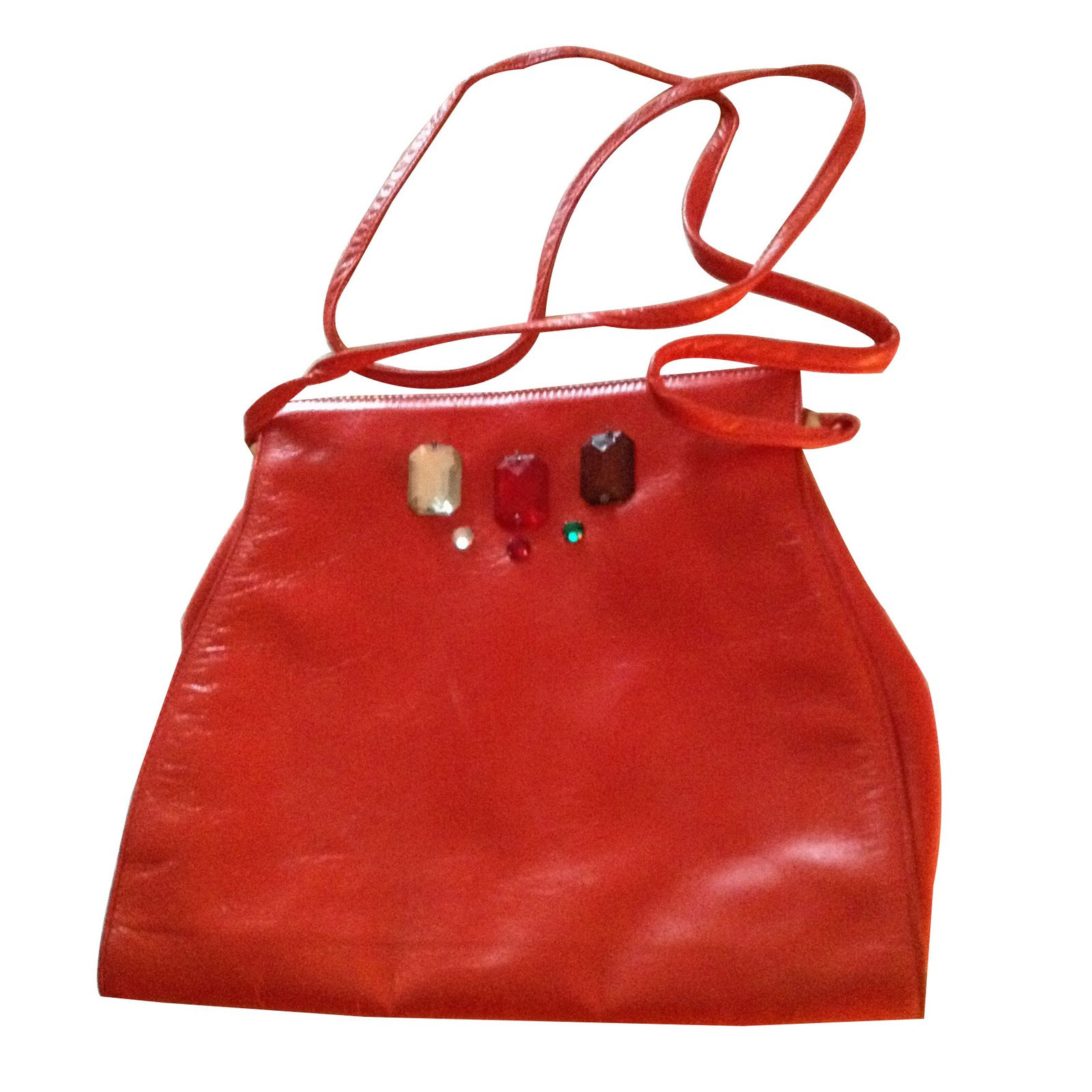 Charles Jourdan Handbags Leather Red Ref 7368