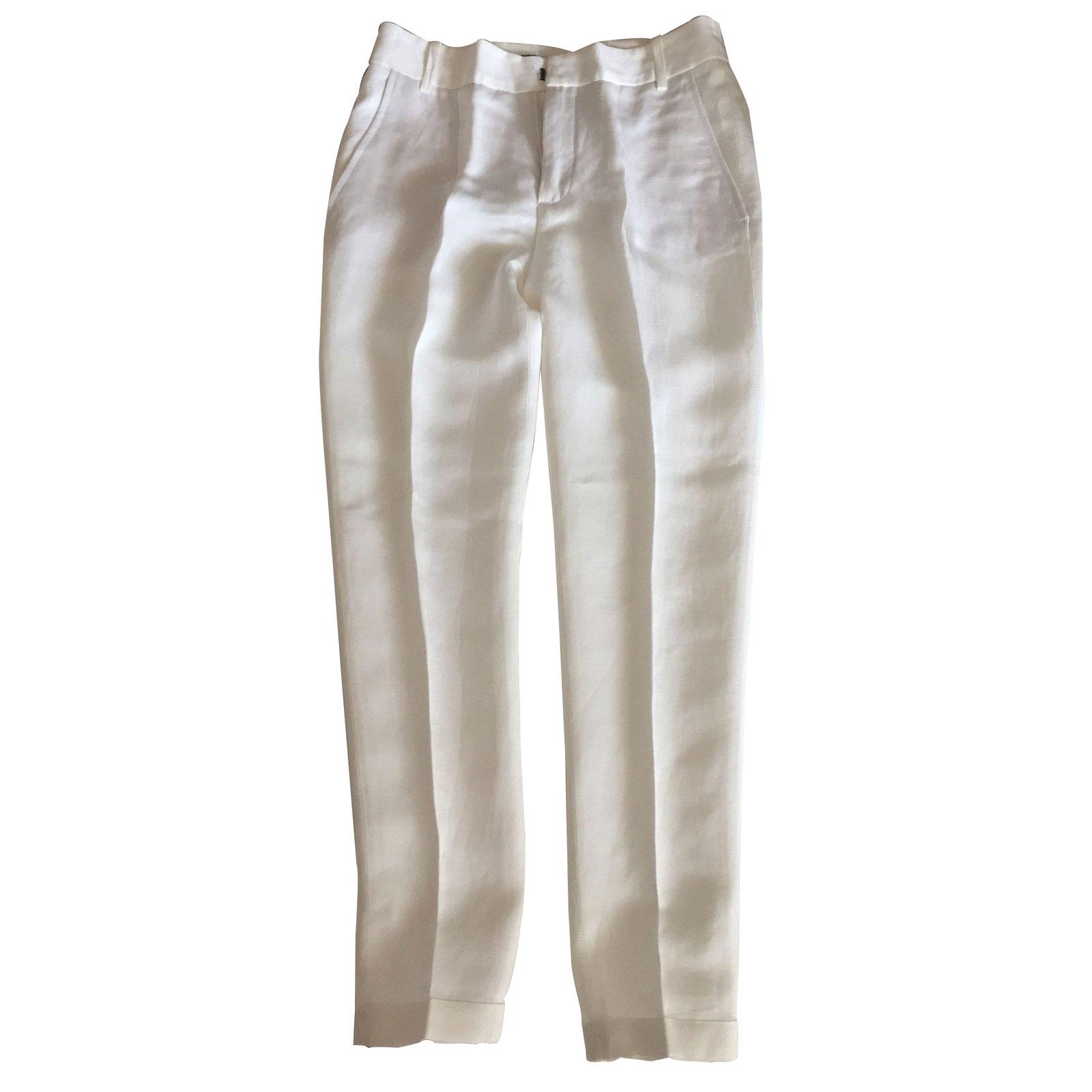 pantalons zara pantalons polyester blanc joli closet. Black Bedroom Furniture Sets. Home Design Ideas