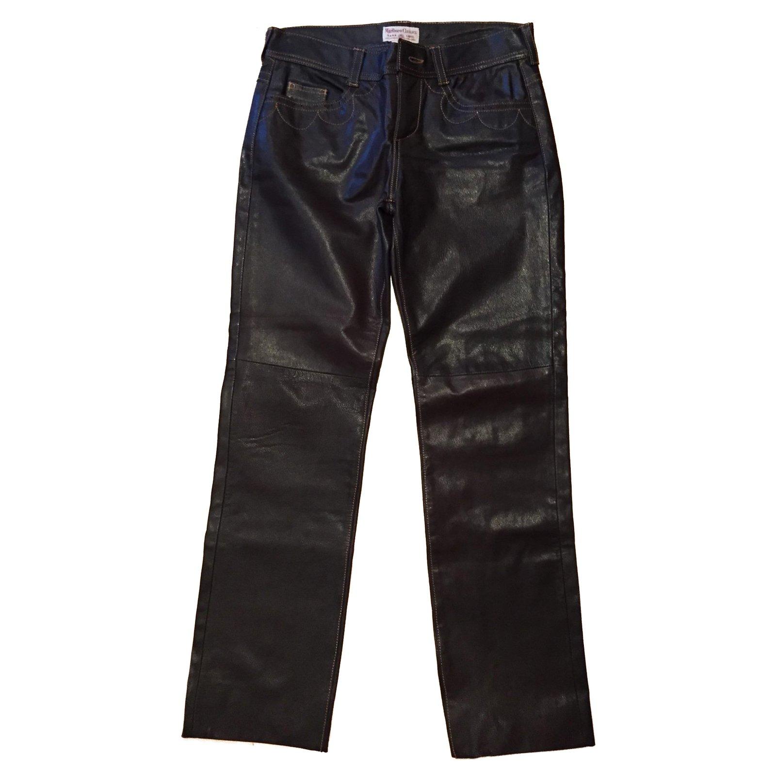 pantalons autre marque pantalon marlboro classics cuir marron joli closet. Black Bedroom Furniture Sets. Home Design Ideas