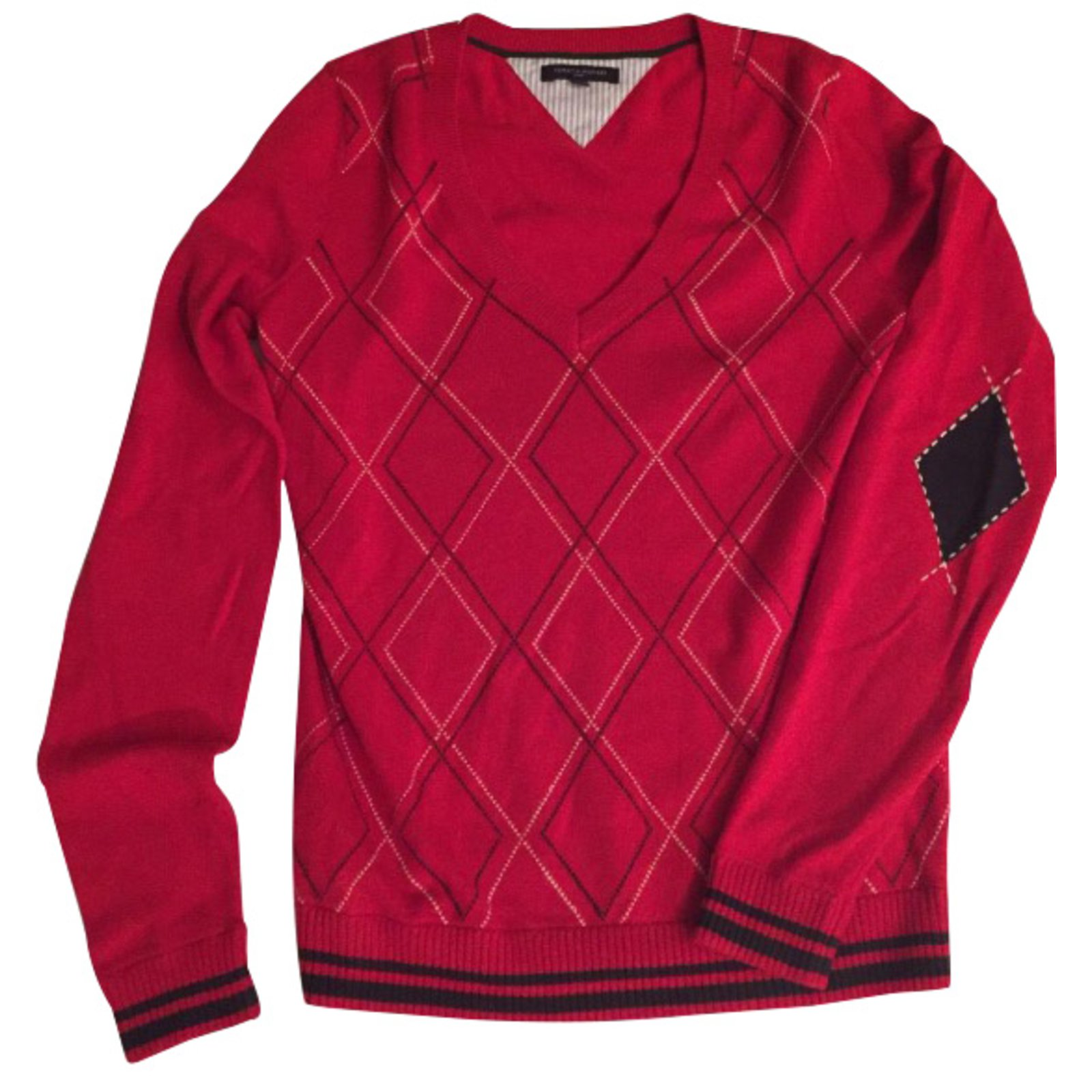 pulls gilets tommy hilfiger pulls gilets coton rouge joli closet. Black Bedroom Furniture Sets. Home Design Ideas