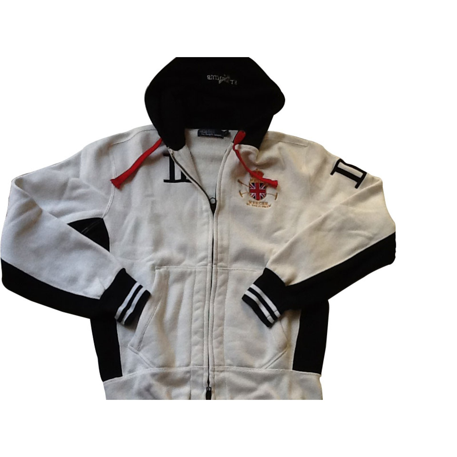123192264ca33d Pulls, gilets homme Polo Ralph Lauren Sweat shirt Coton Blanc ref.8035