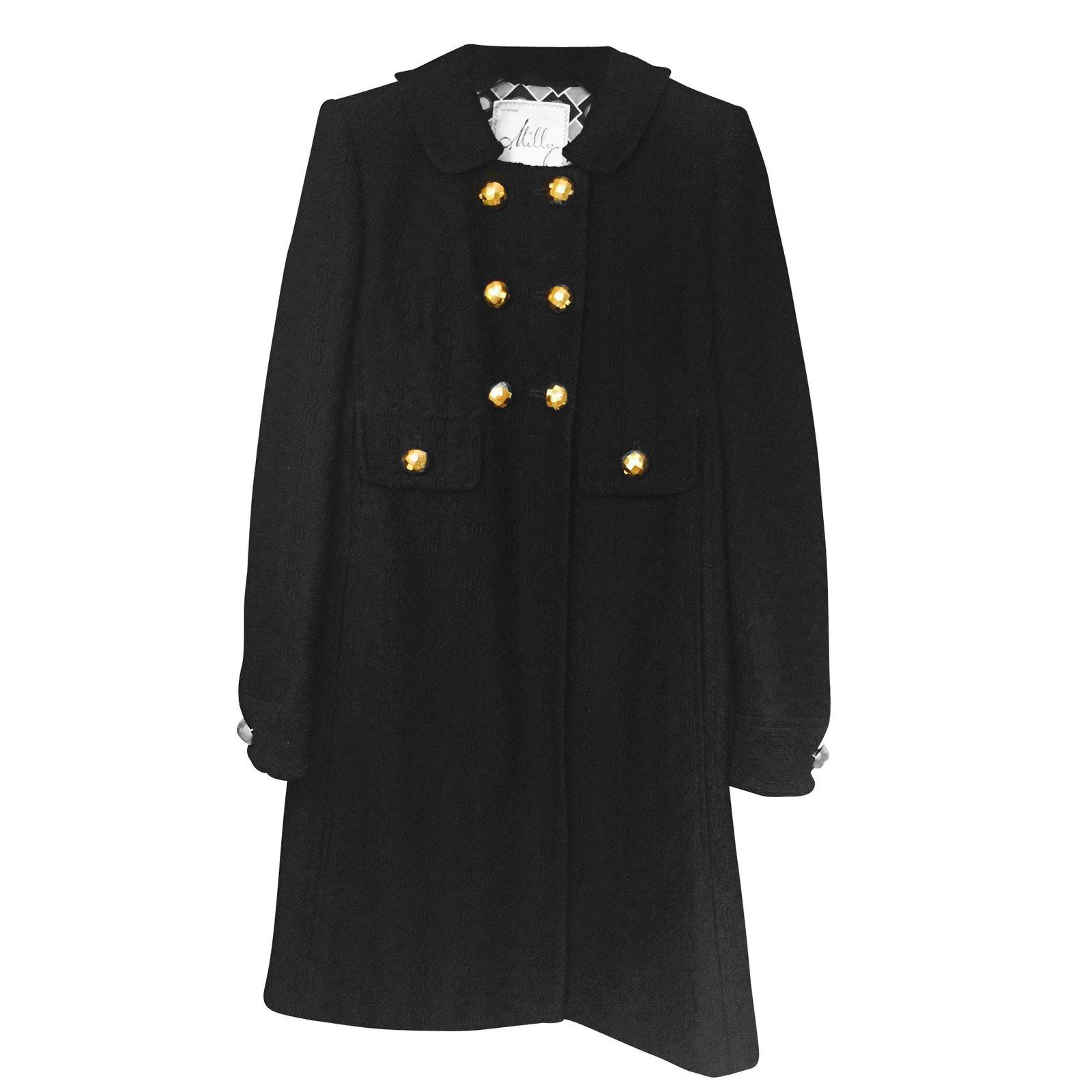 manteaux milly manteau laine noir joli closet. Black Bedroom Furniture Sets. Home Design Ideas