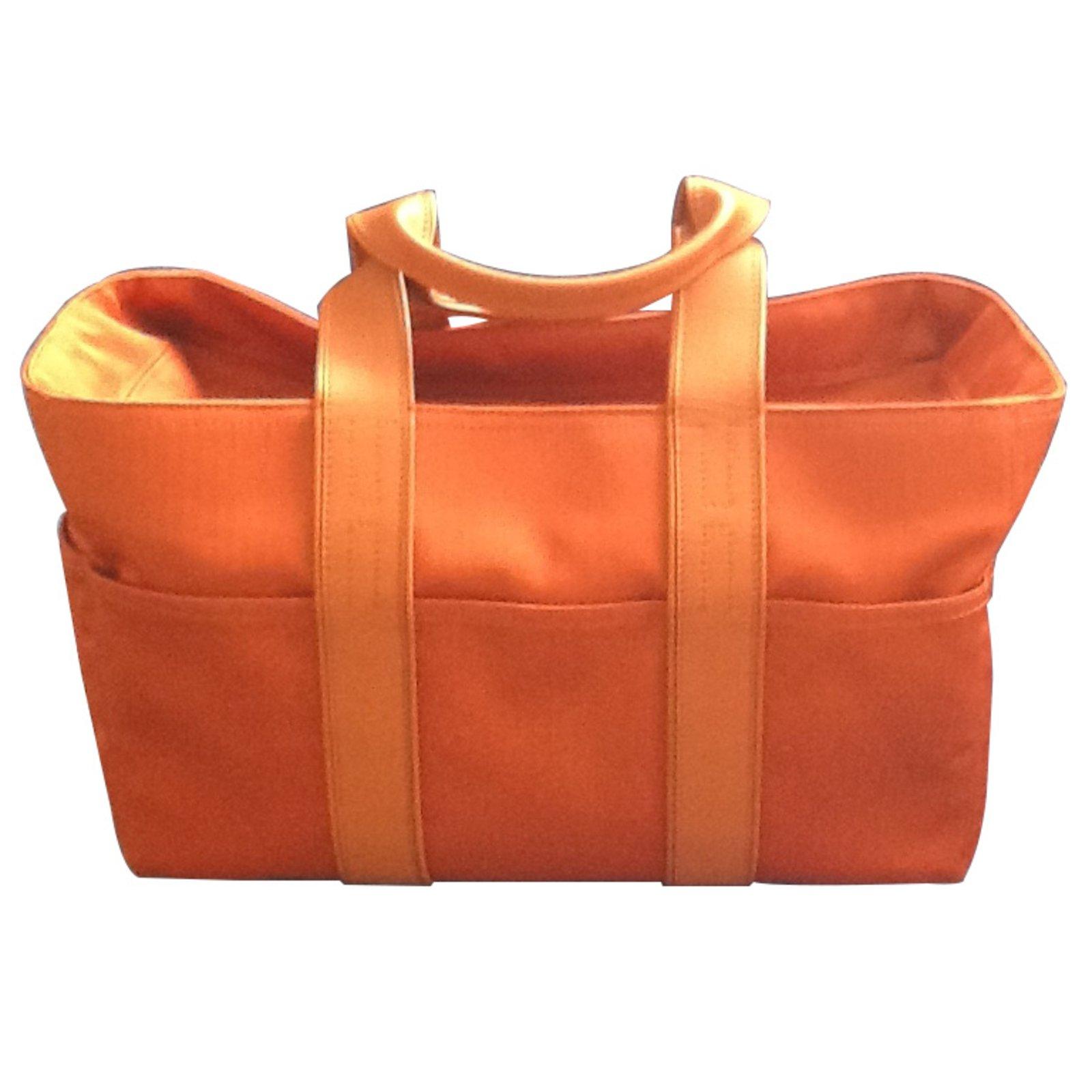 84fa01cc8a Sacs à main Hermès Acapulco Toile Orange ref.8384 - Joli Closet