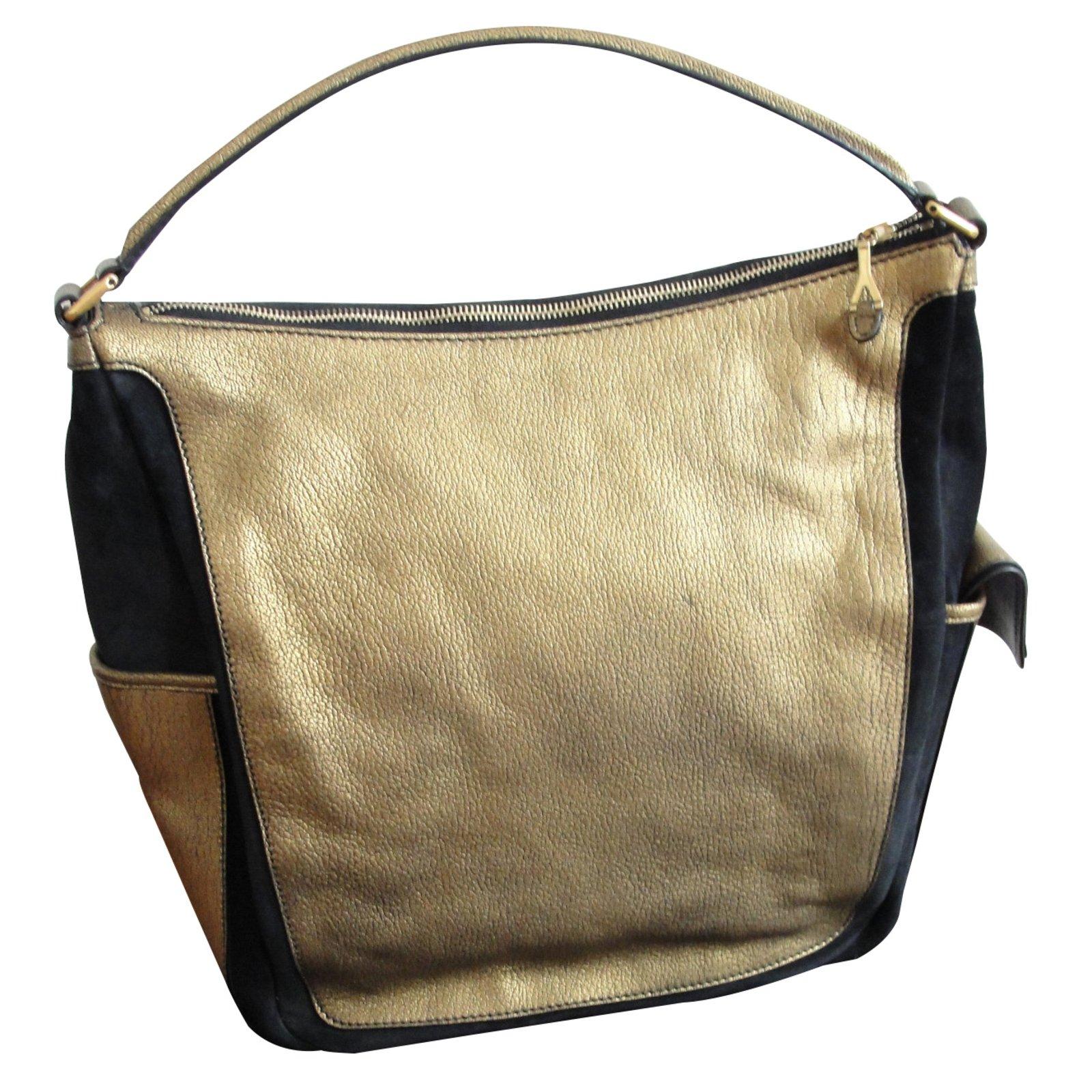 Yves Saint Laurent Handbags Handbags Leather Golden ref.8386 - Joli ... e005e82048ac8