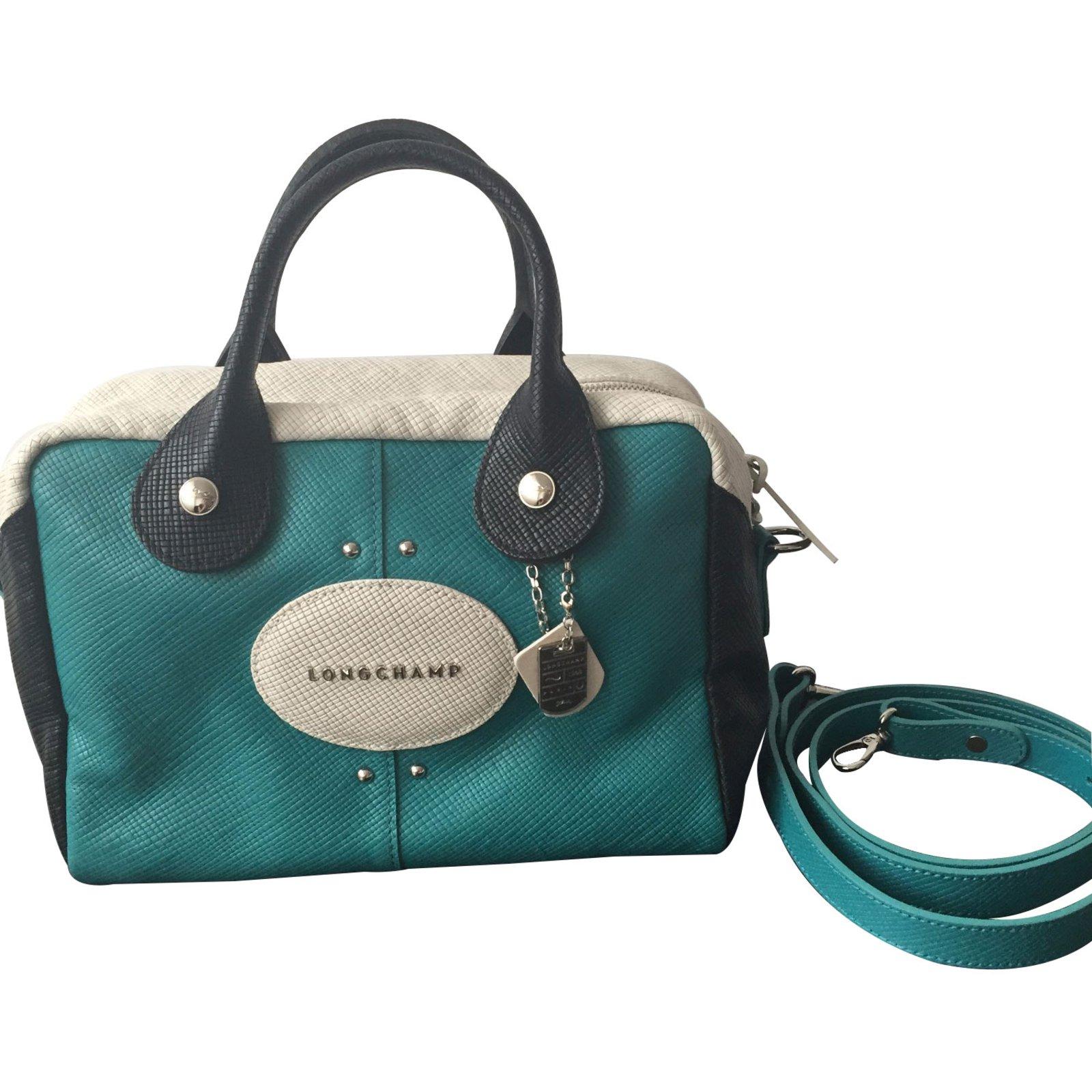 Longchamp Cuir Bleu