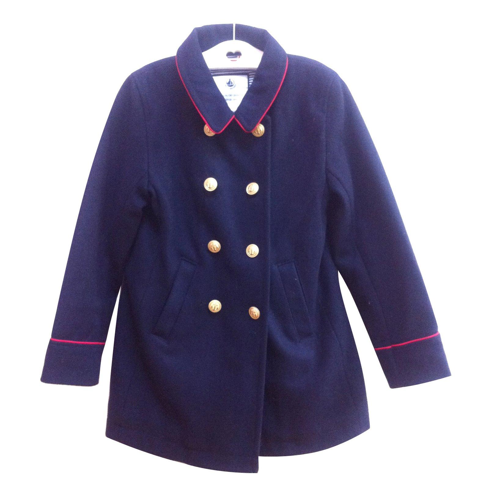 blousons manteaux filles petit bateau manteau 8 ans laine bleu joli closet. Black Bedroom Furniture Sets. Home Design Ideas