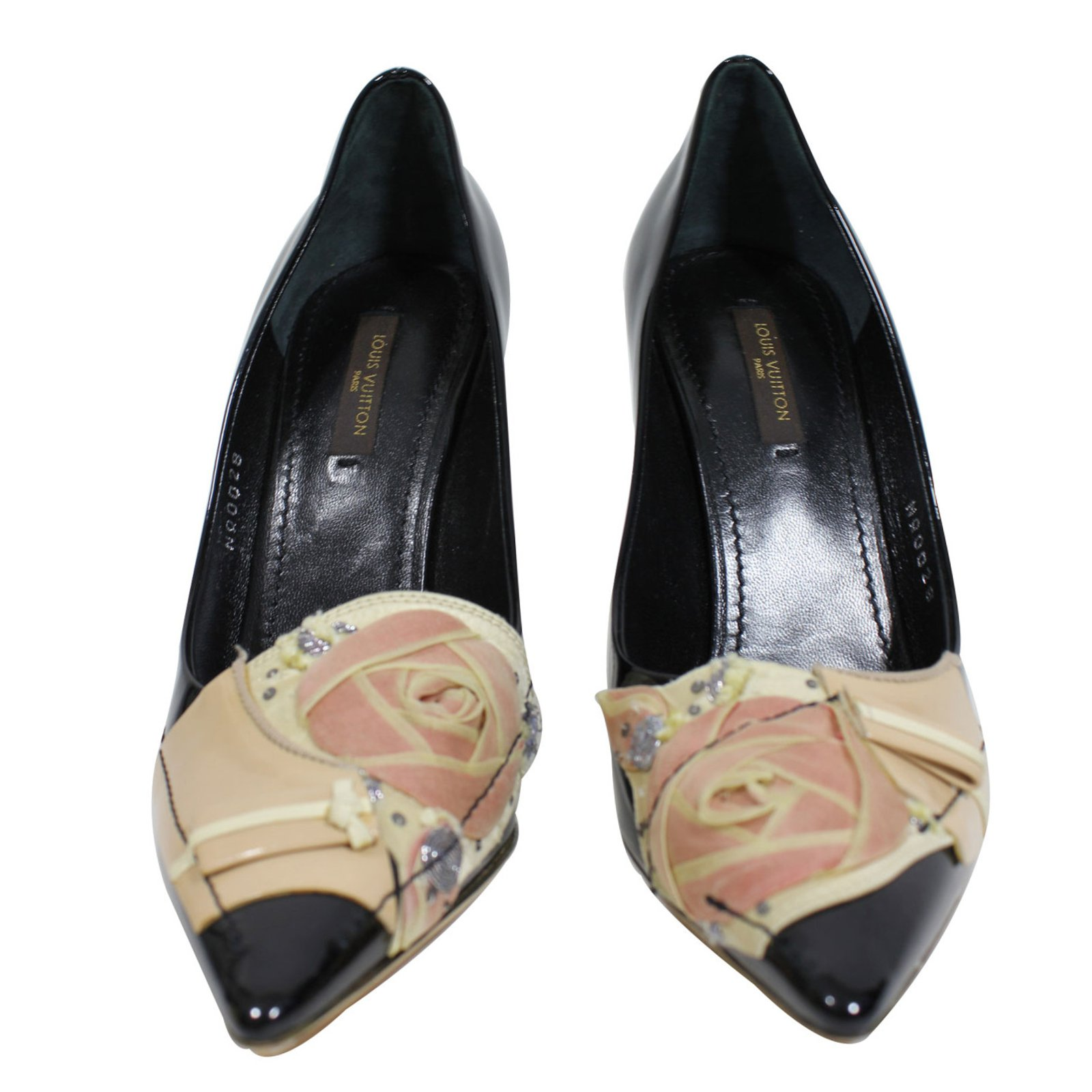 louis vuitton black heels