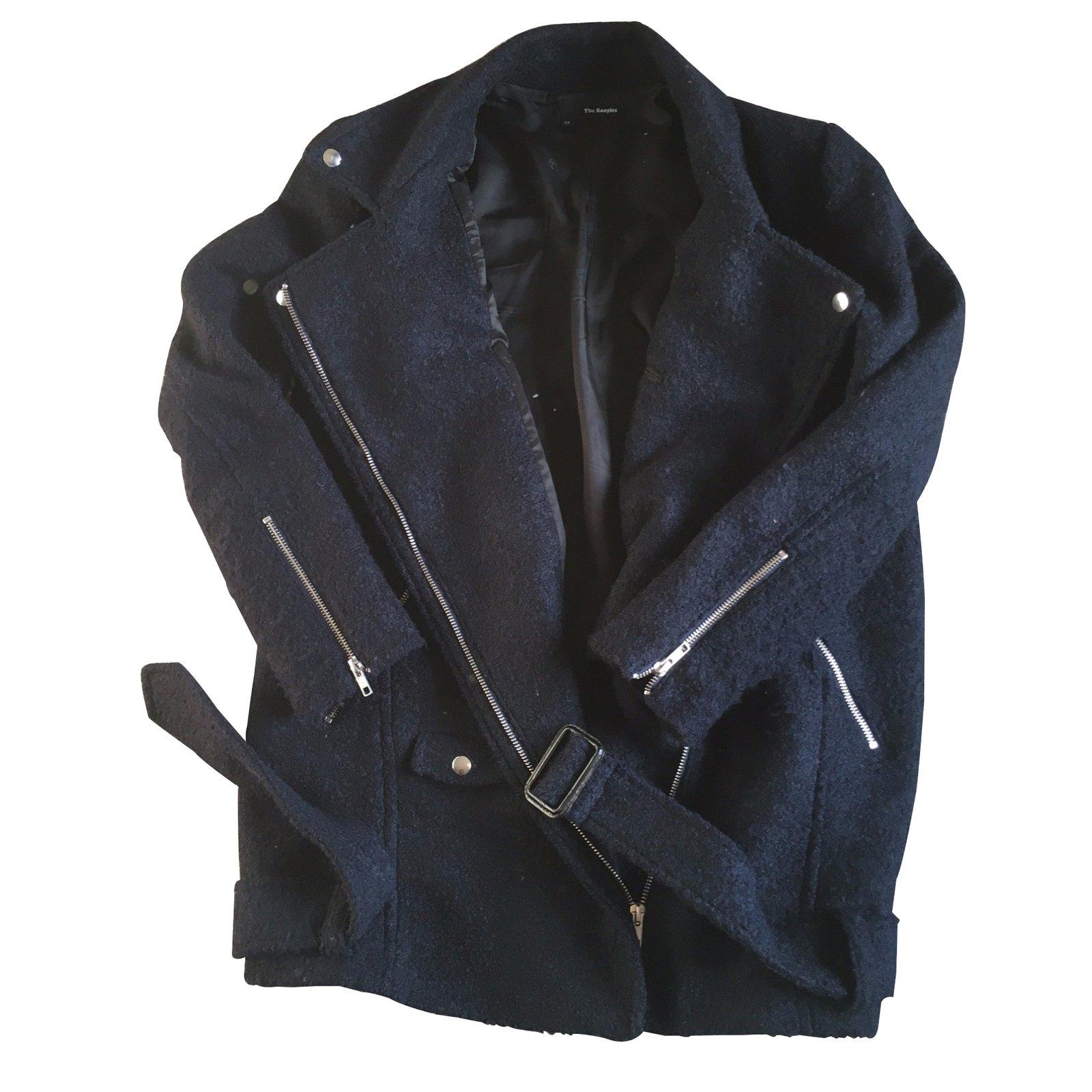 manteaux the kooples manteaux laine bleu joli. Black Bedroom Furniture Sets. Home Design Ideas