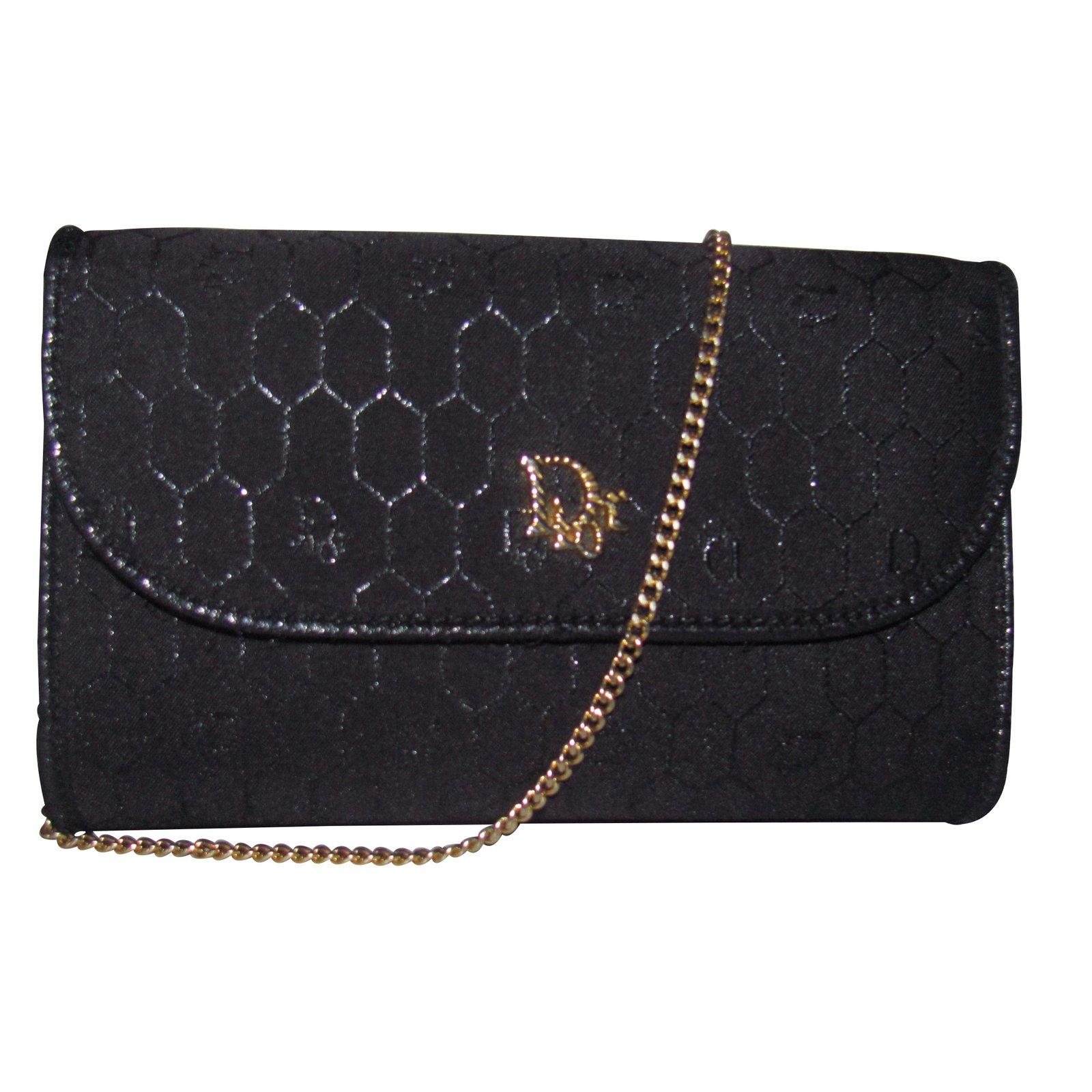 Sacs �� main Christian Dior Sacs �� main Toile Noir ref.8877 - Joli ...