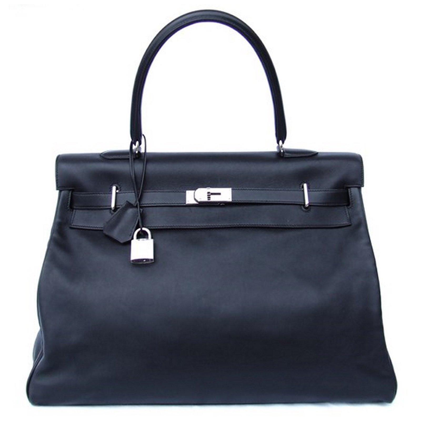 Sacs de voyage Hermès Kelly Cuir Noir ref.9372 - Joli Closet b66cbcd189f
