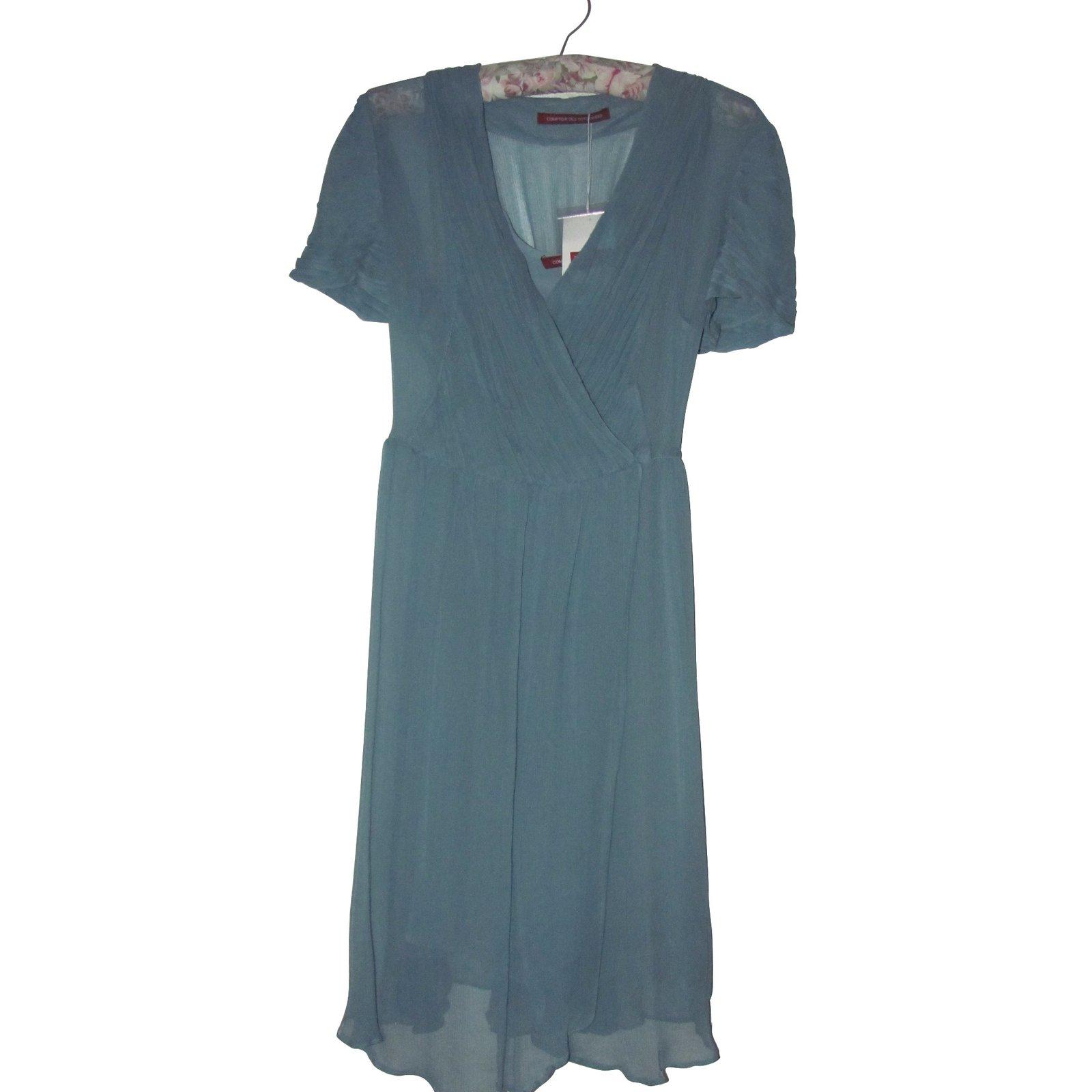 Robes comptoir des cotonniers robes autre bleu joli closet - Robe bleue comptoir des cotonniers ...