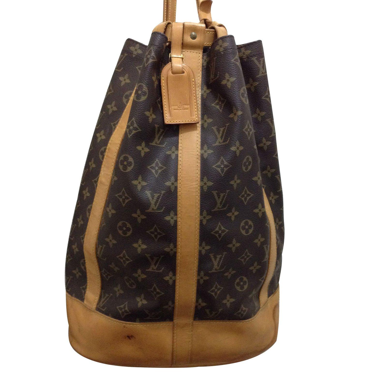 Sacs à dos Louis Vuitton sac randonnée ou marin Toile marron clair ref.9548