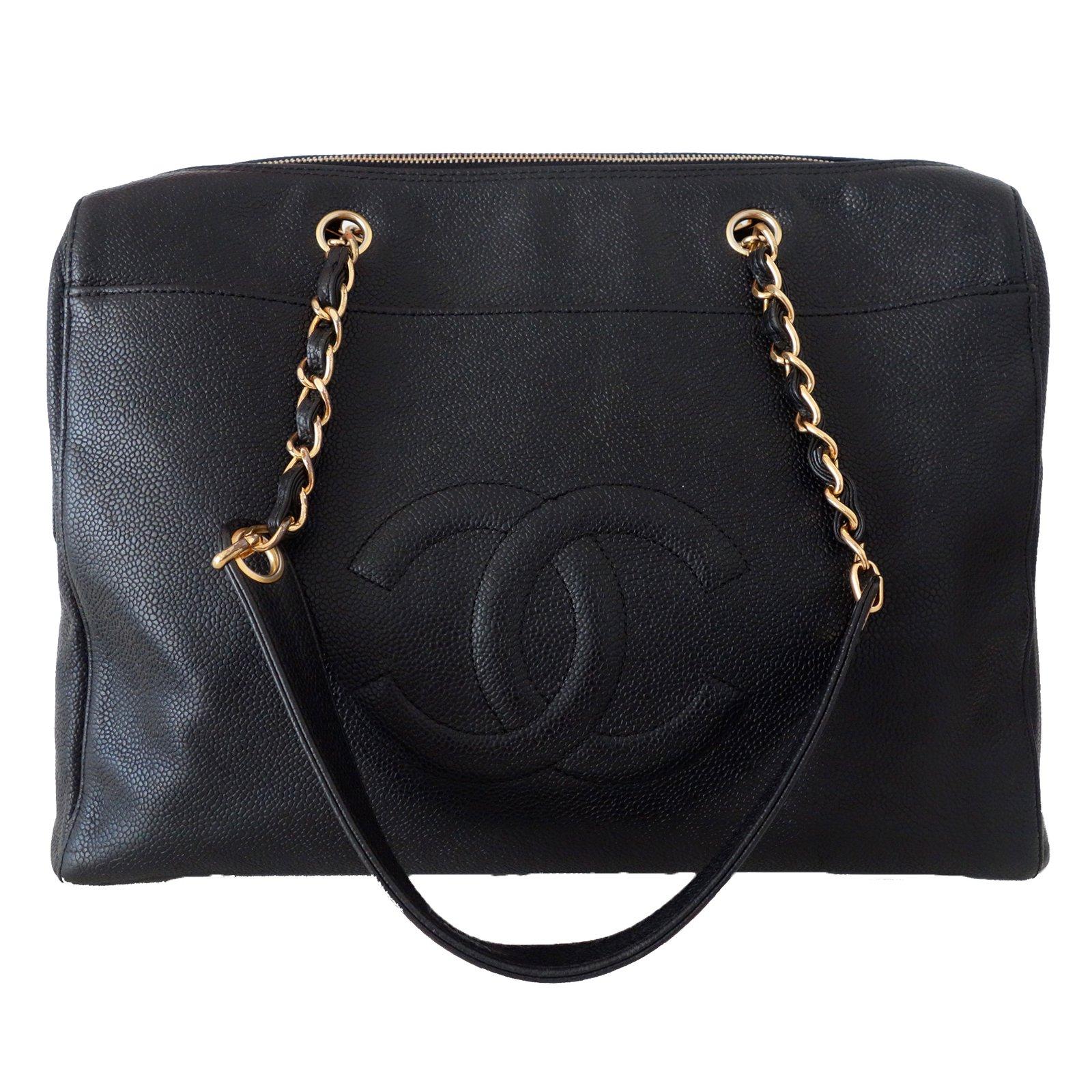 sacs main chanel sacs main cuir noir joli. Black Bedroom Furniture Sets. Home Design Ideas