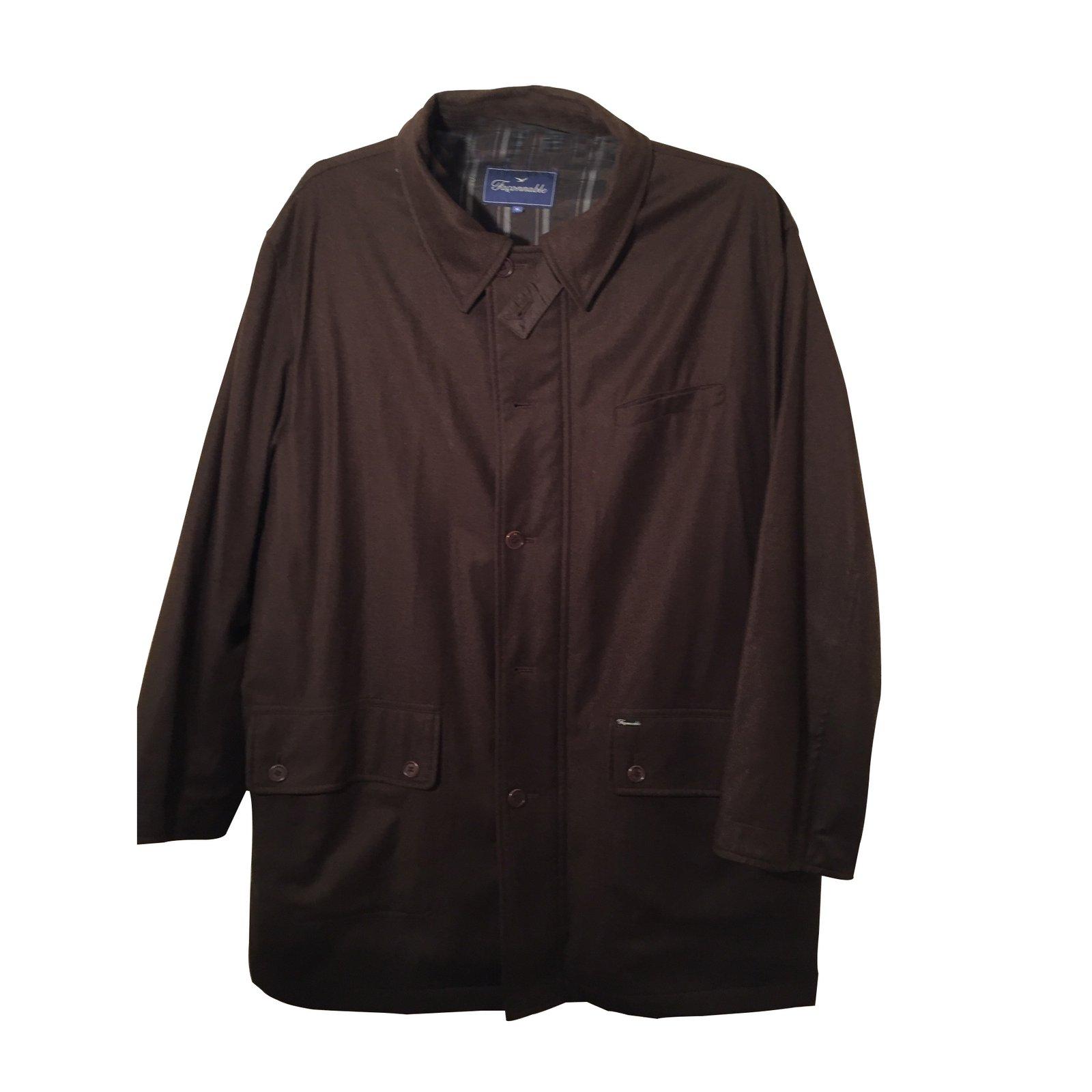 manteaux homme fa onnable parka polyester marron. Black Bedroom Furniture Sets. Home Design Ideas