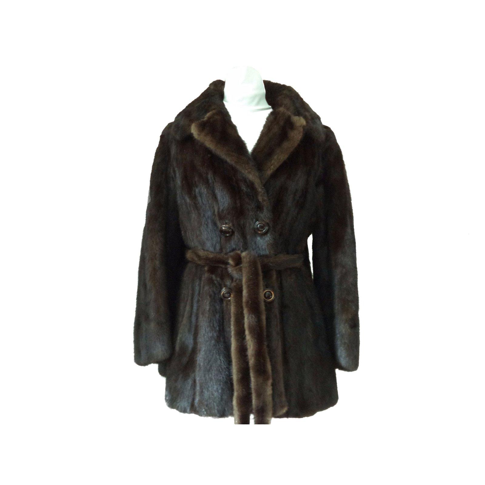 manteaux vintage manteaux fourrure marron joli closet. Black Bedroom Furniture Sets. Home Design Ideas