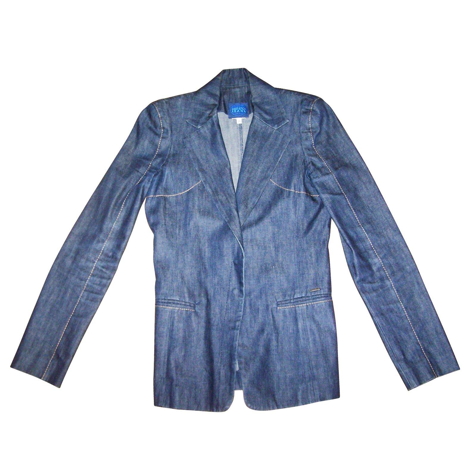vestes kenzo vestes jean bleu joli closet. Black Bedroom Furniture Sets. Home Design Ideas