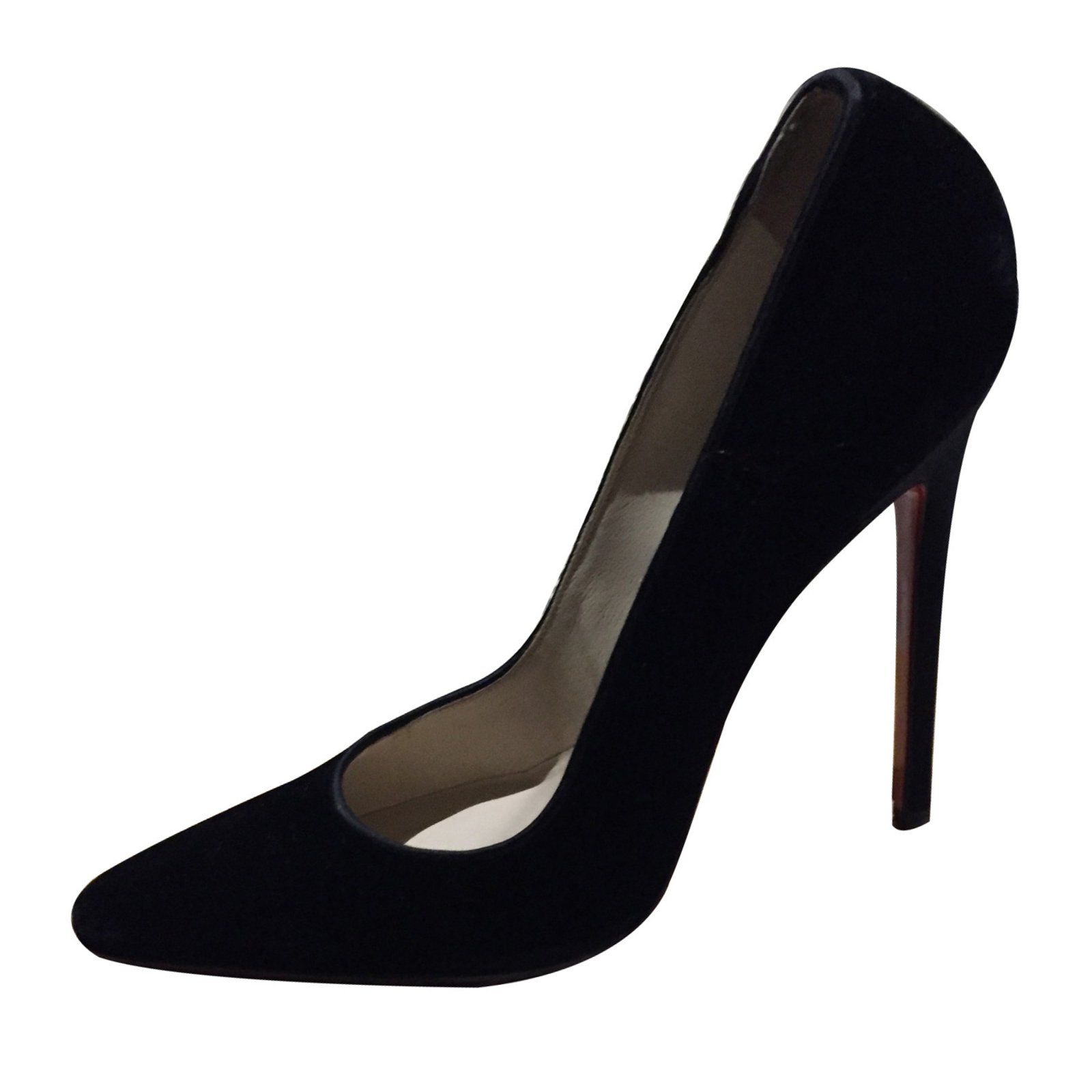 95e11f3faa59 Christian Louboutin Heels Heels Velvet Black ref.9794 - Joli Closet