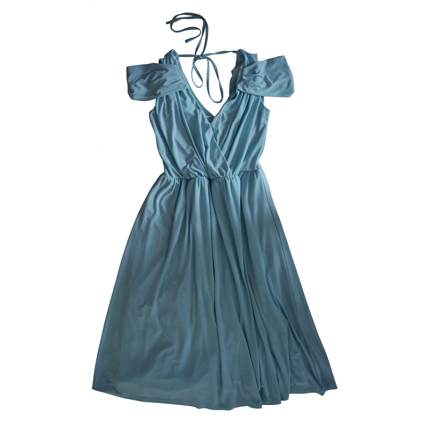 robes asos robes polyester bleu joli closet. Black Bedroom Furniture Sets. Home Design Ideas