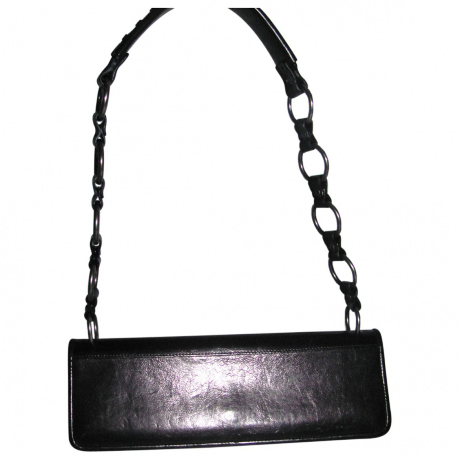 Yves Saint Laurent Handbags Handbags Leather Brown ref.9924 - Joli ... 8c18ace3a6feb