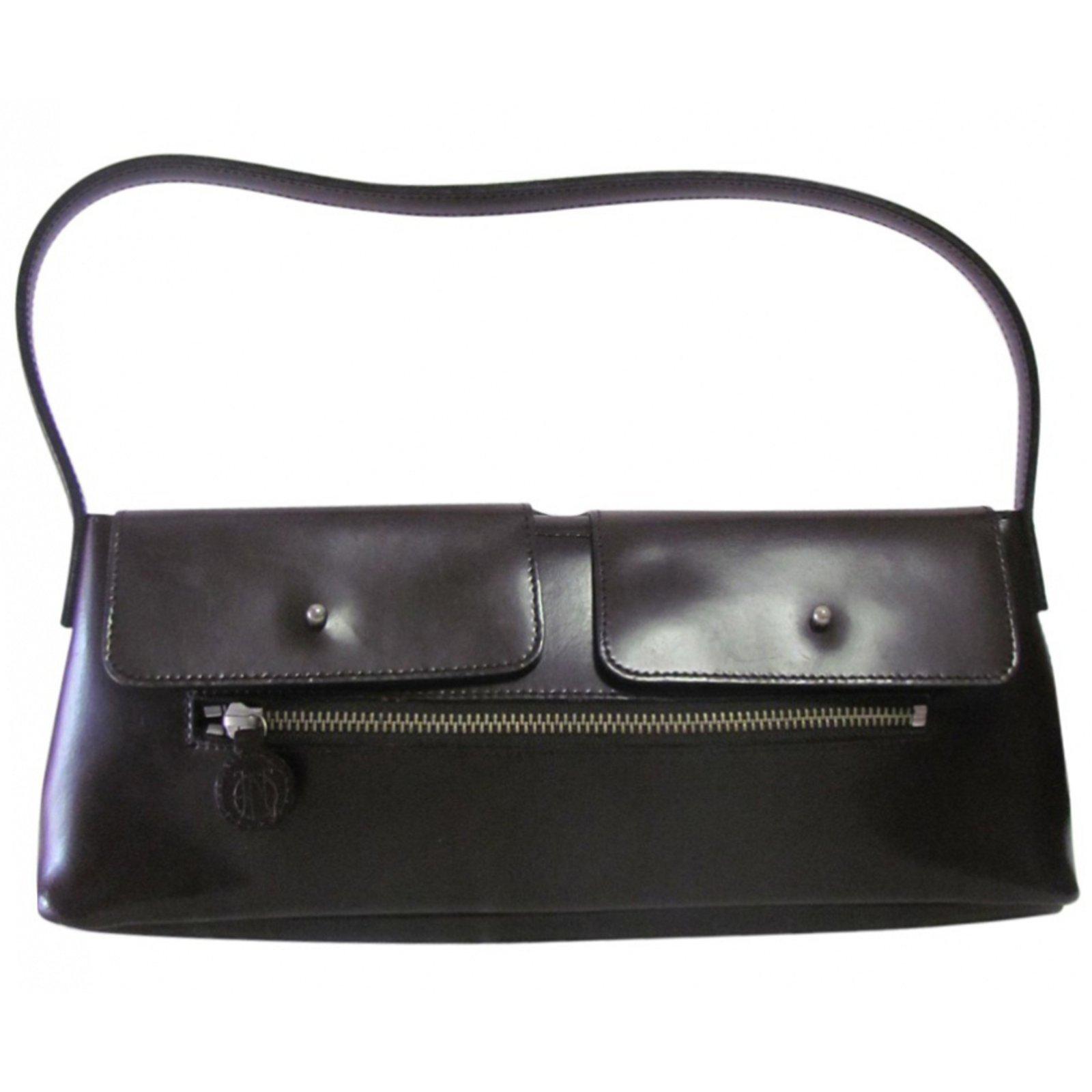 Sacs à Main Jean Paul Gaultier : Sacs ? main jean paul gaultier cuir marron ref