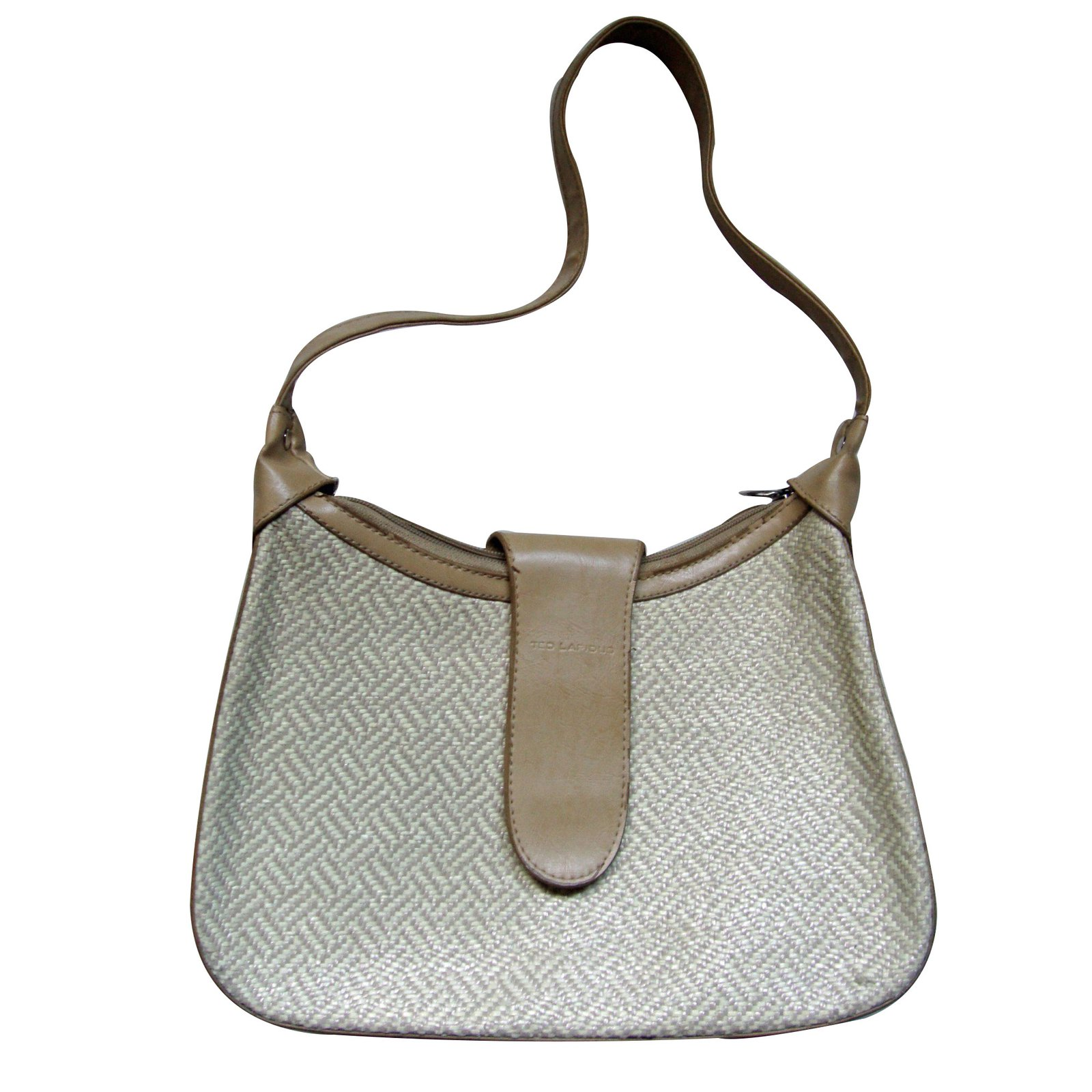 sacs main autre marque vintage ted lapidus cuir beige joli closet. Black Bedroom Furniture Sets. Home Design Ideas