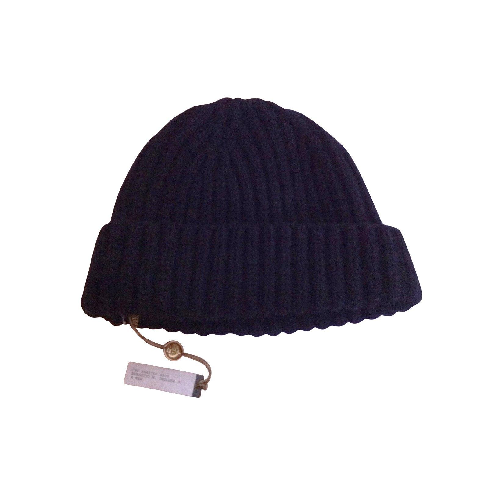 d92102e50e8 Loro Piana Hats Beanies Cashmere Black Ref 10584 Joli