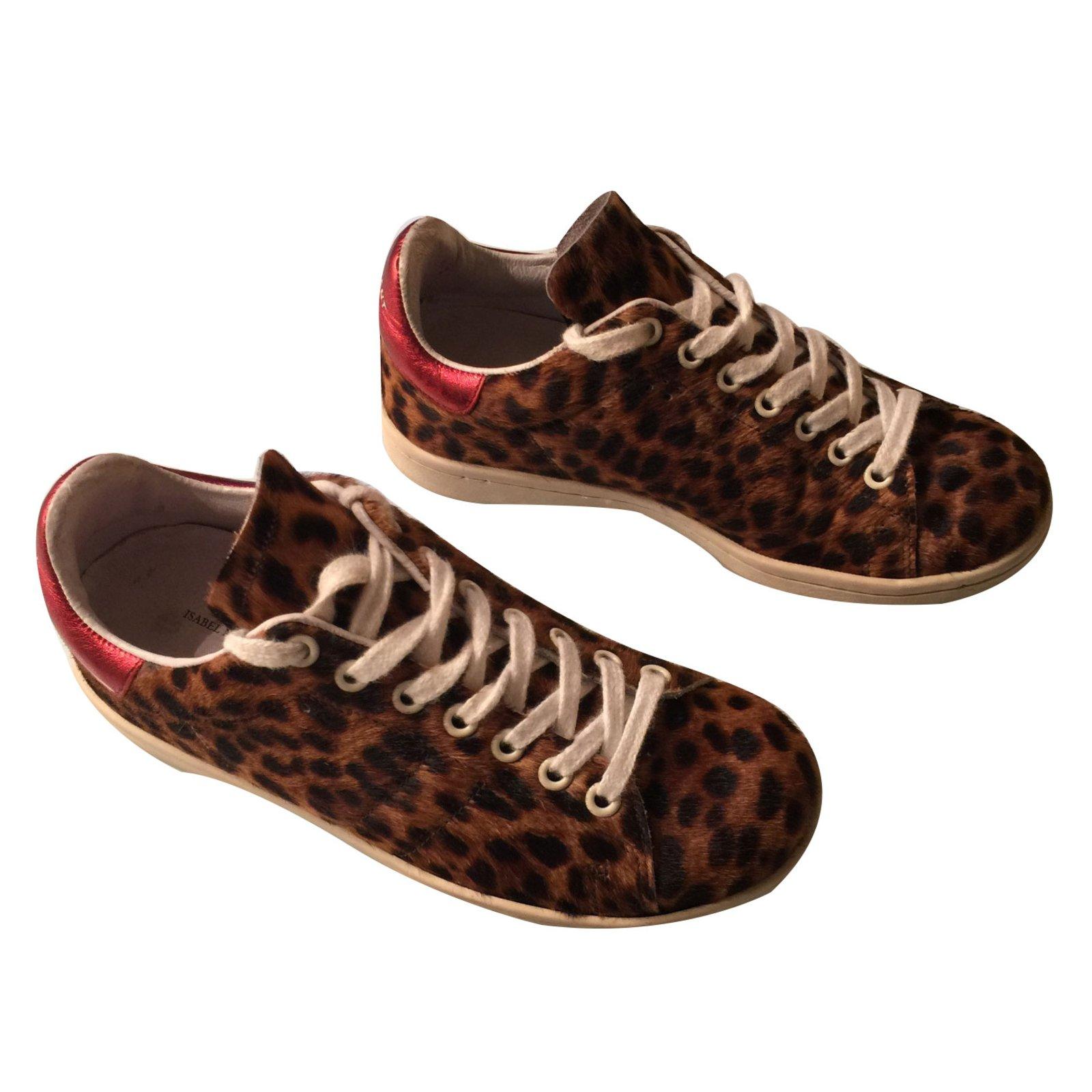 baskets isabel marant etoile basket leopard veau fa on. Black Bedroom Furniture Sets. Home Design Ideas
