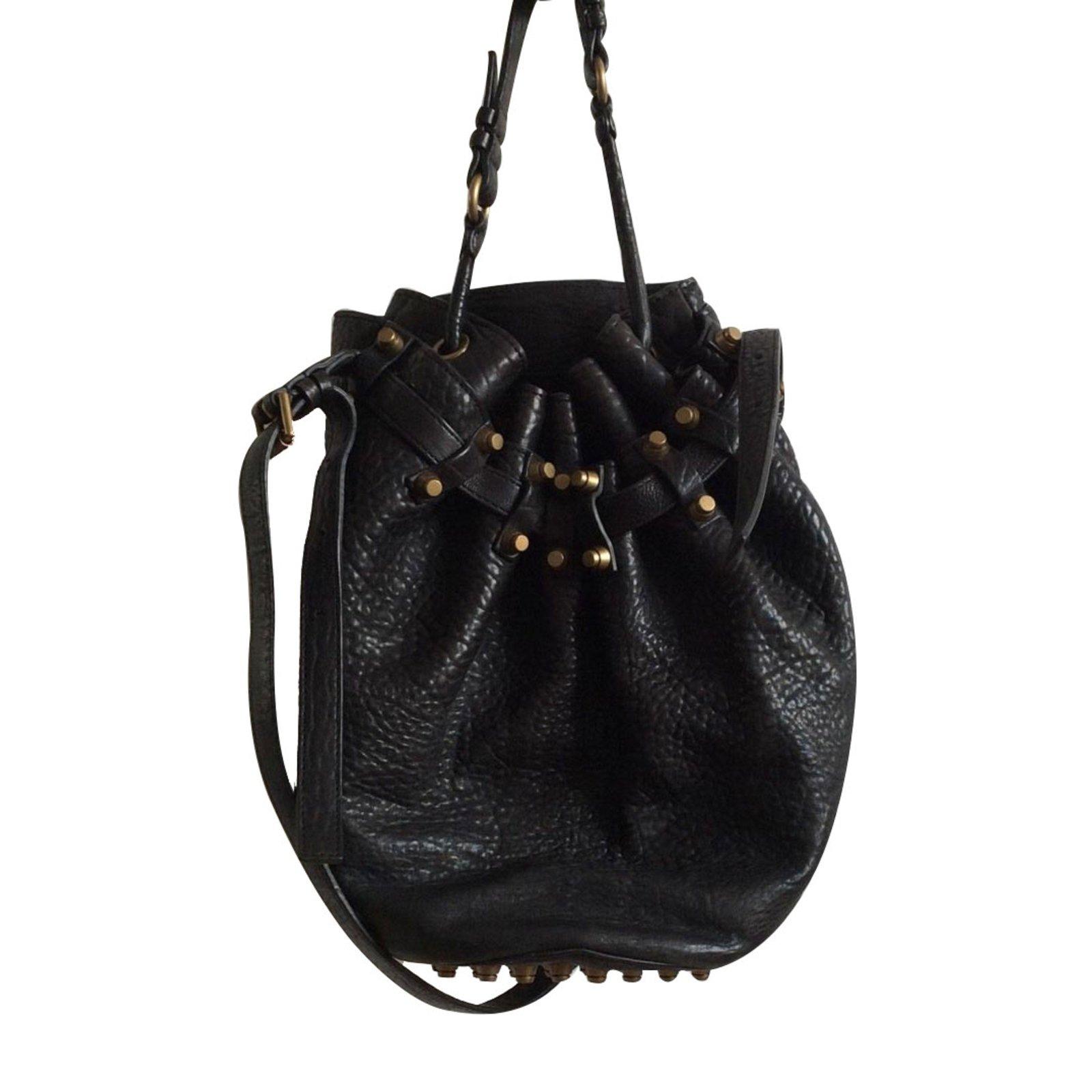 sacs main alexander wang sac diego cuir noir joli closet. Black Bedroom Furniture Sets. Home Design Ideas