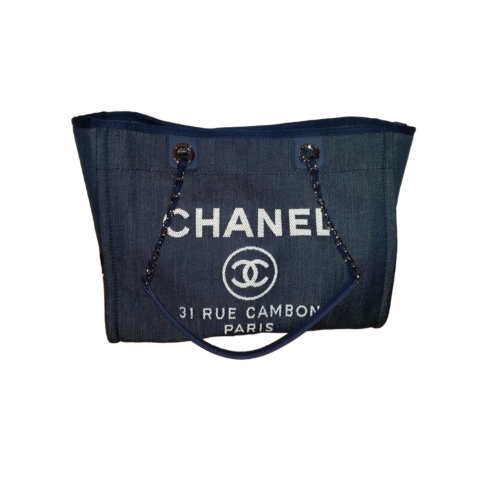 Sacs main chanel croisi re jean bleu joli closet for Sac chanel interieur