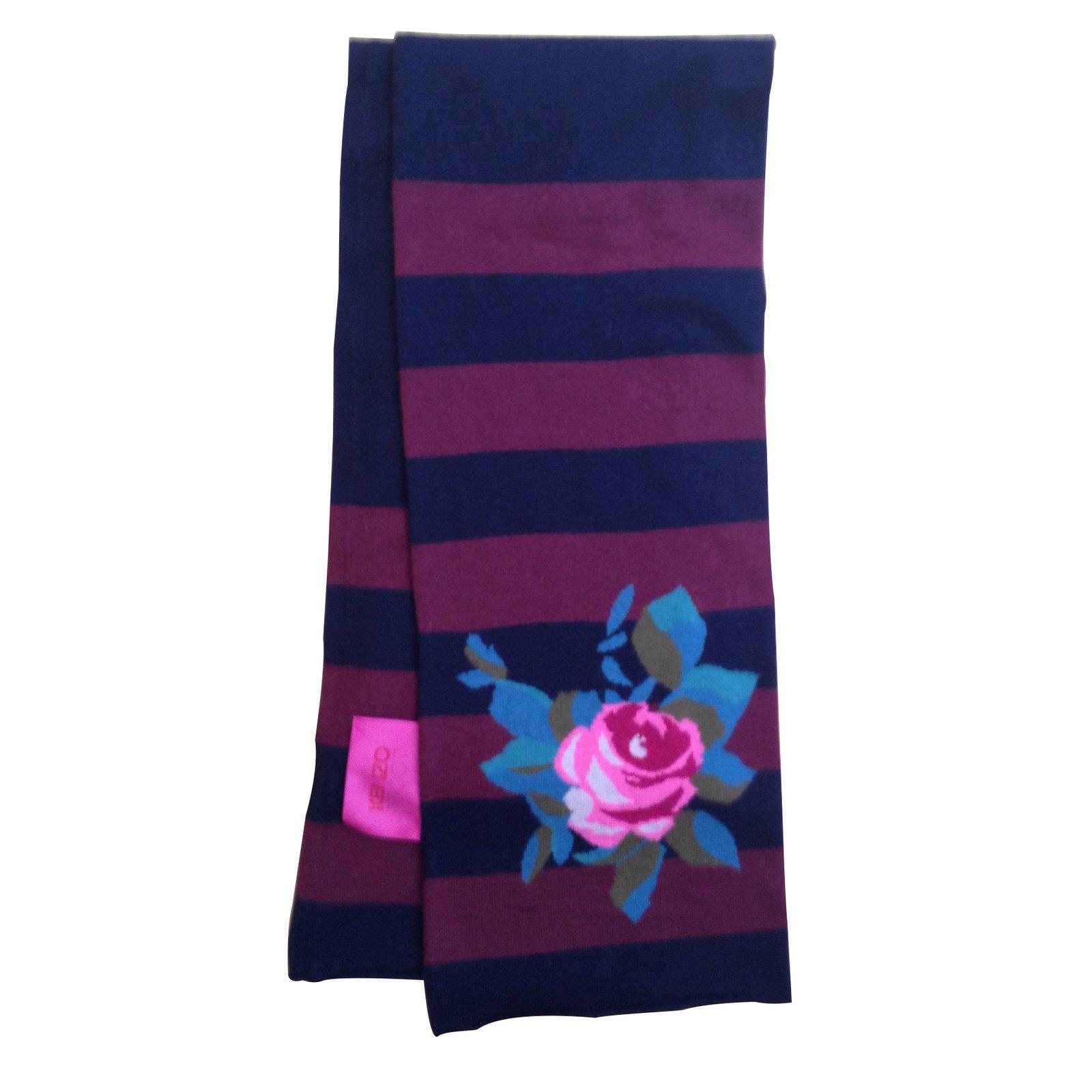 1c95f344b99 Foulards Kenzo Echarpe laine Laine Multicolore ref.11504 - Joli Closet