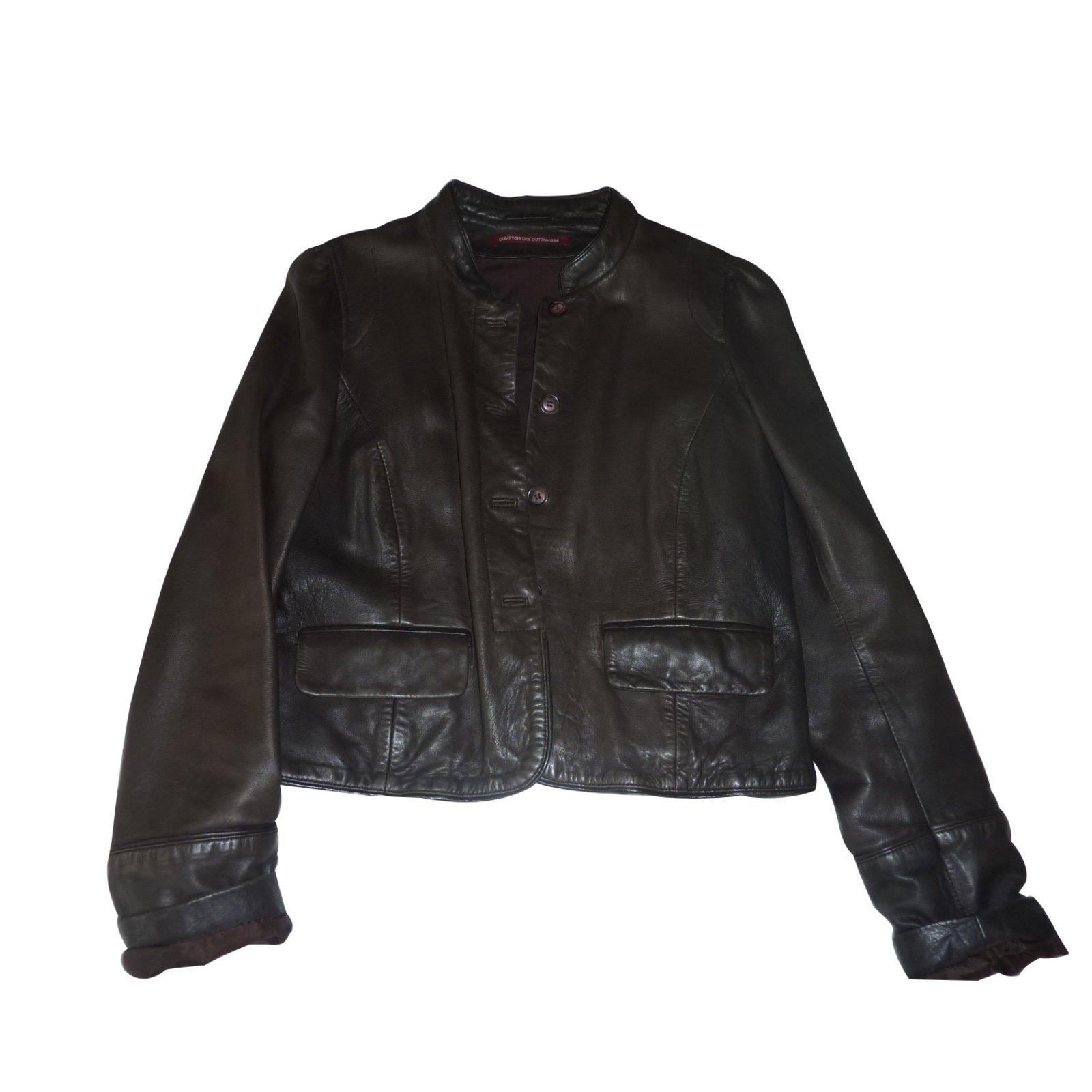 Blouson cuir comptoir des cotonniers