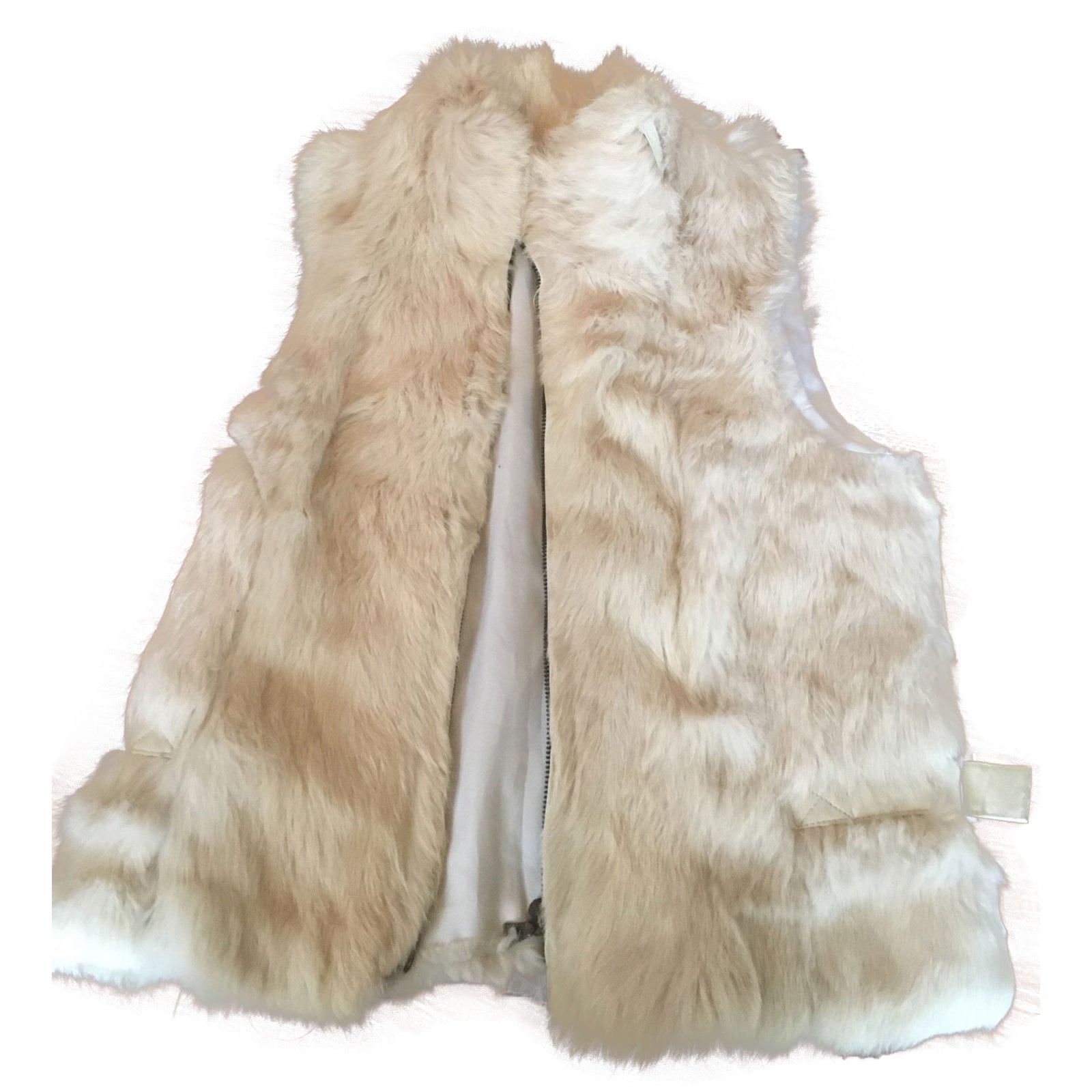 manteaux ventcouvert gilet en lapin sans manche fourrure. Black Bedroom Furniture Sets. Home Design Ideas