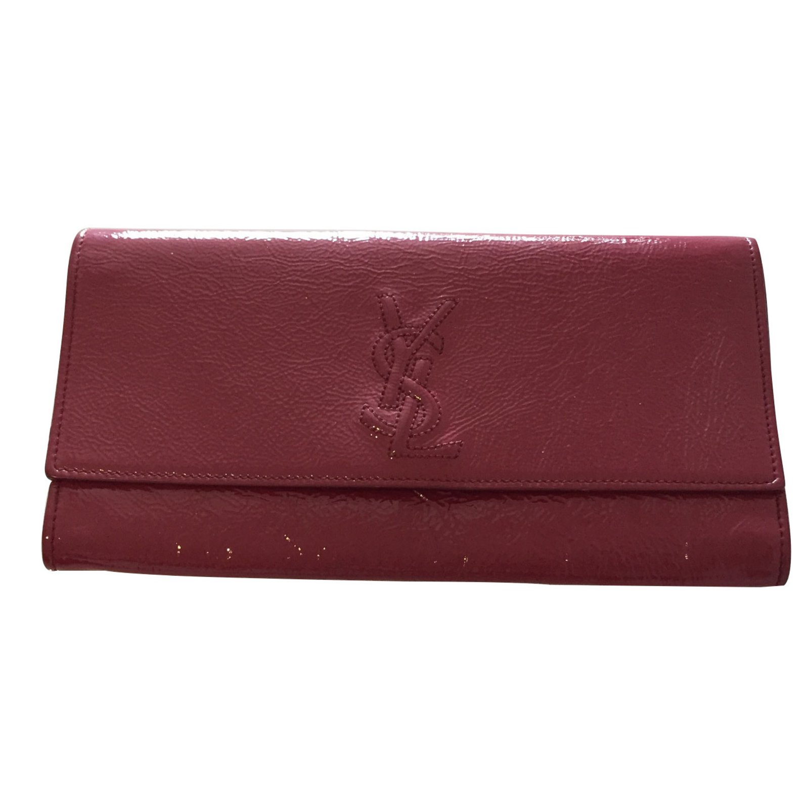 college purses - Clutch bags Yves Saint Laurent Clutch bags Patent leather Pink ref ...