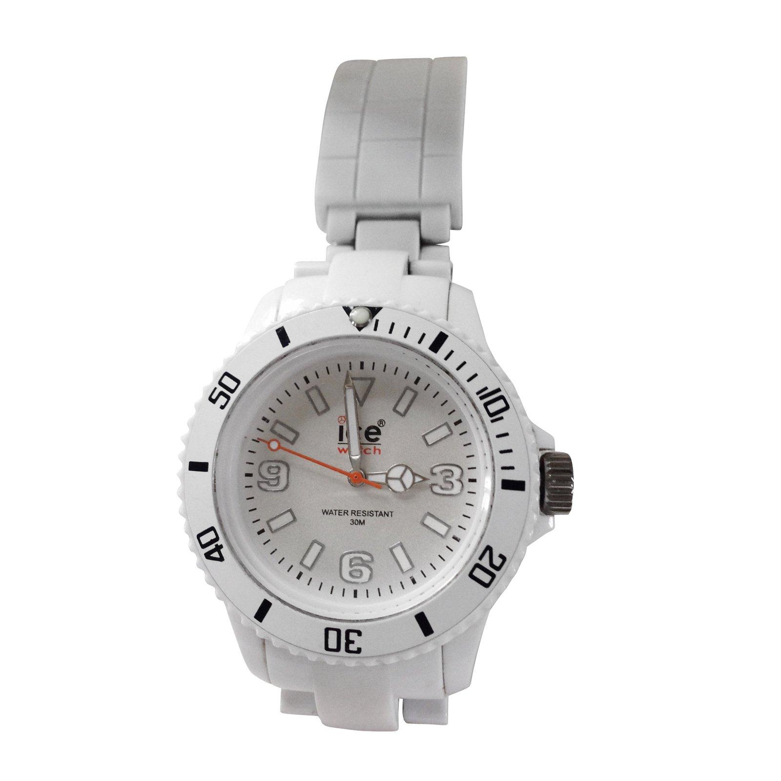 montres autre marque montre ice watch plastique blanc joli closet. Black Bedroom Furniture Sets. Home Design Ideas