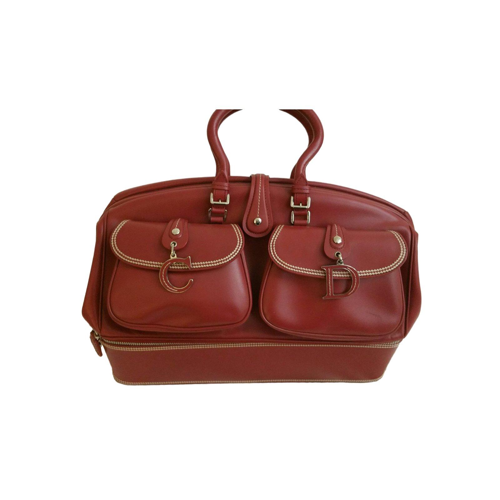 be439c5890c9 Christian Dior Handbags Handbags Leather Red ref.11983 - Joli Closet