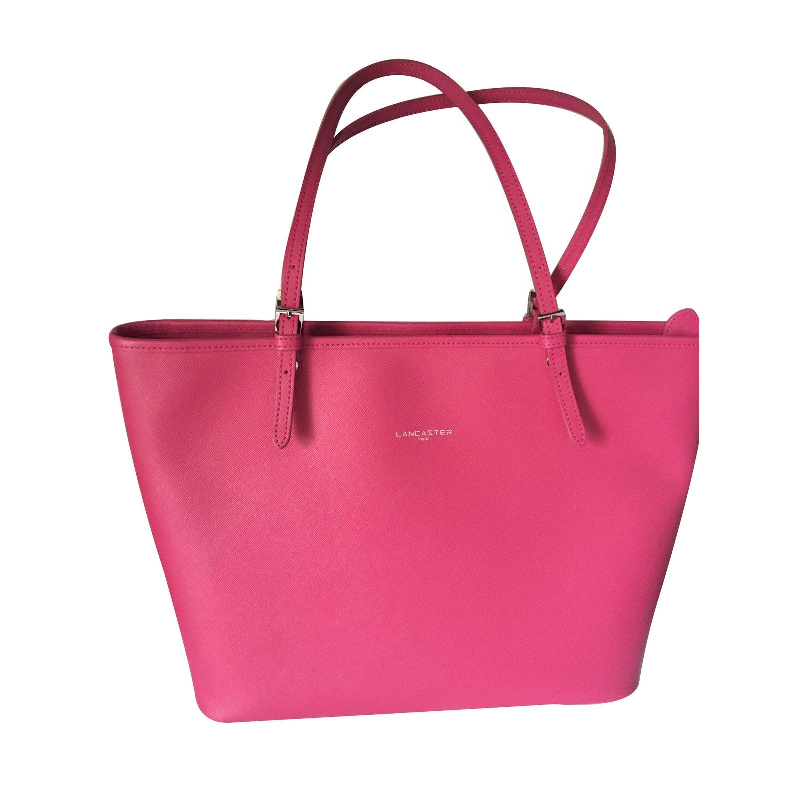 sacs main autre marque sacs main lancaster synth tique rose joli closet. Black Bedroom Furniture Sets. Home Design Ideas