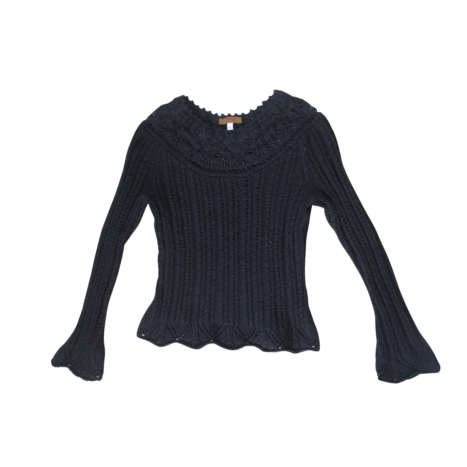 pulls gilets kenzo pull laine noir joli closet. Black Bedroom Furniture Sets. Home Design Ideas