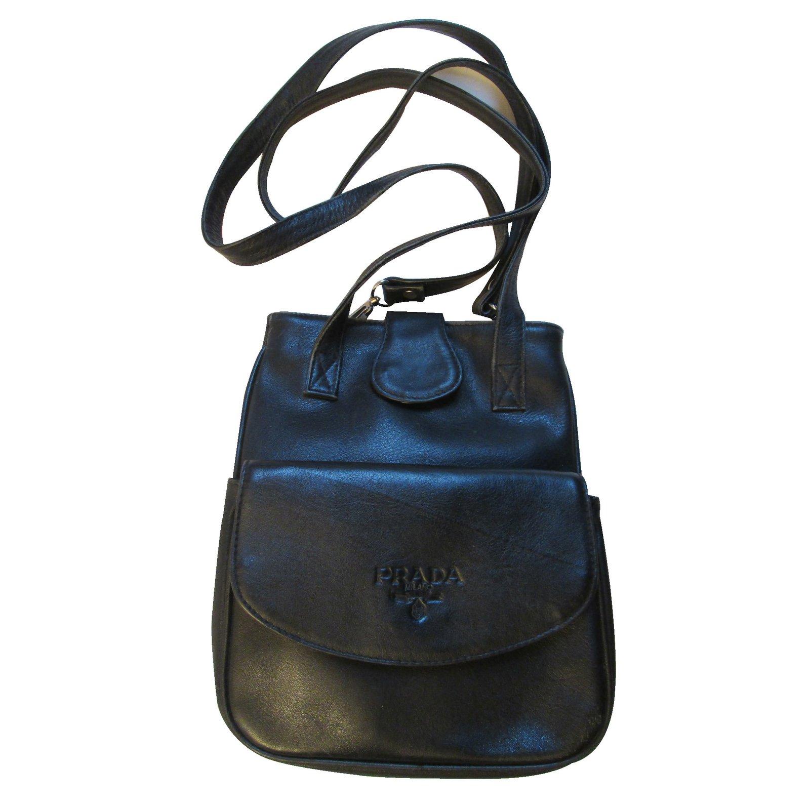 sacs dos prada sac dos ou paule cuir noir joli closet. Black Bedroom Furniture Sets. Home Design Ideas