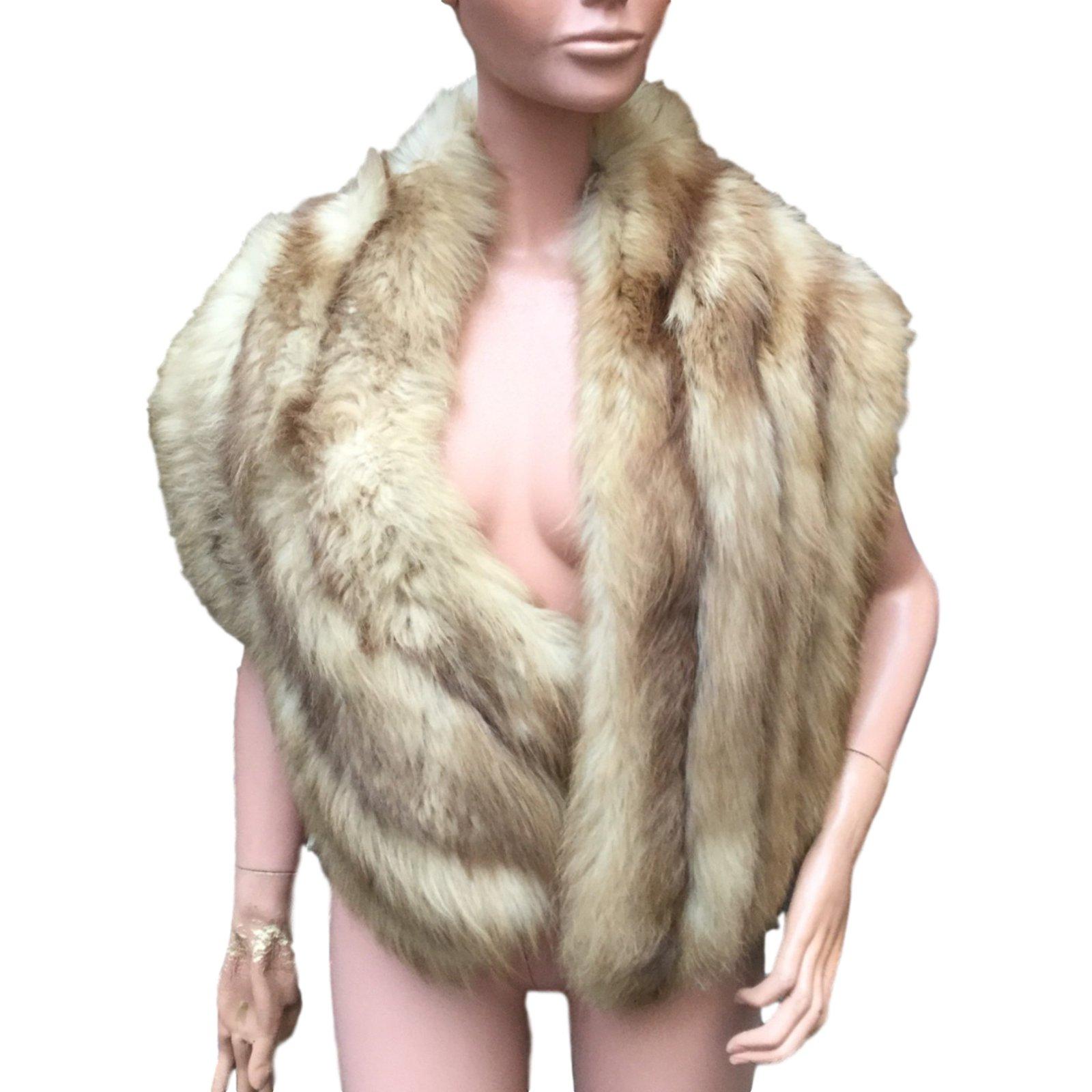 f84158e8eb63 Manteaux Vintage Etole fourrure Fourrure Marron ref.12454 - Joli Closet