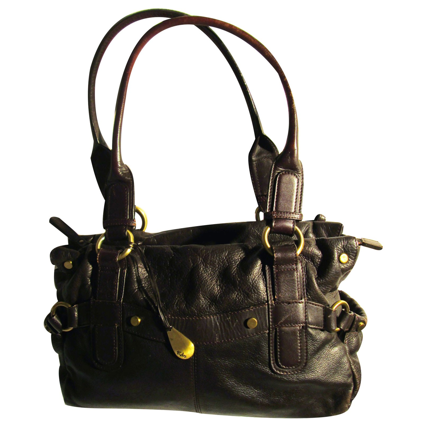 sacs main autre marque sac main tula cuir marron joli closet. Black Bedroom Furniture Sets. Home Design Ideas