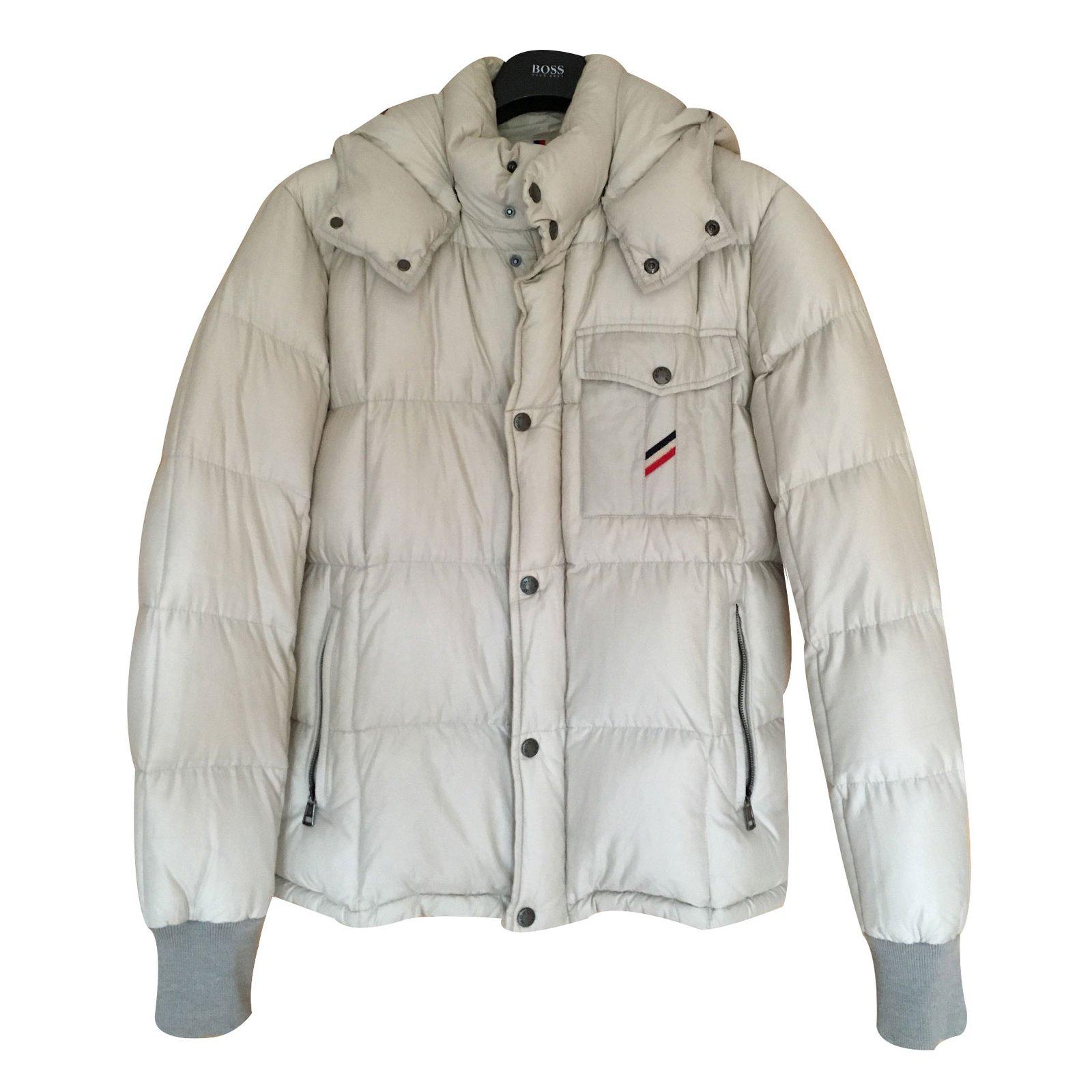 Vestes, blousons Moncler Doudoune Moncler beige clair taille L Coton Beige  ref.12857 97f1d9996c9