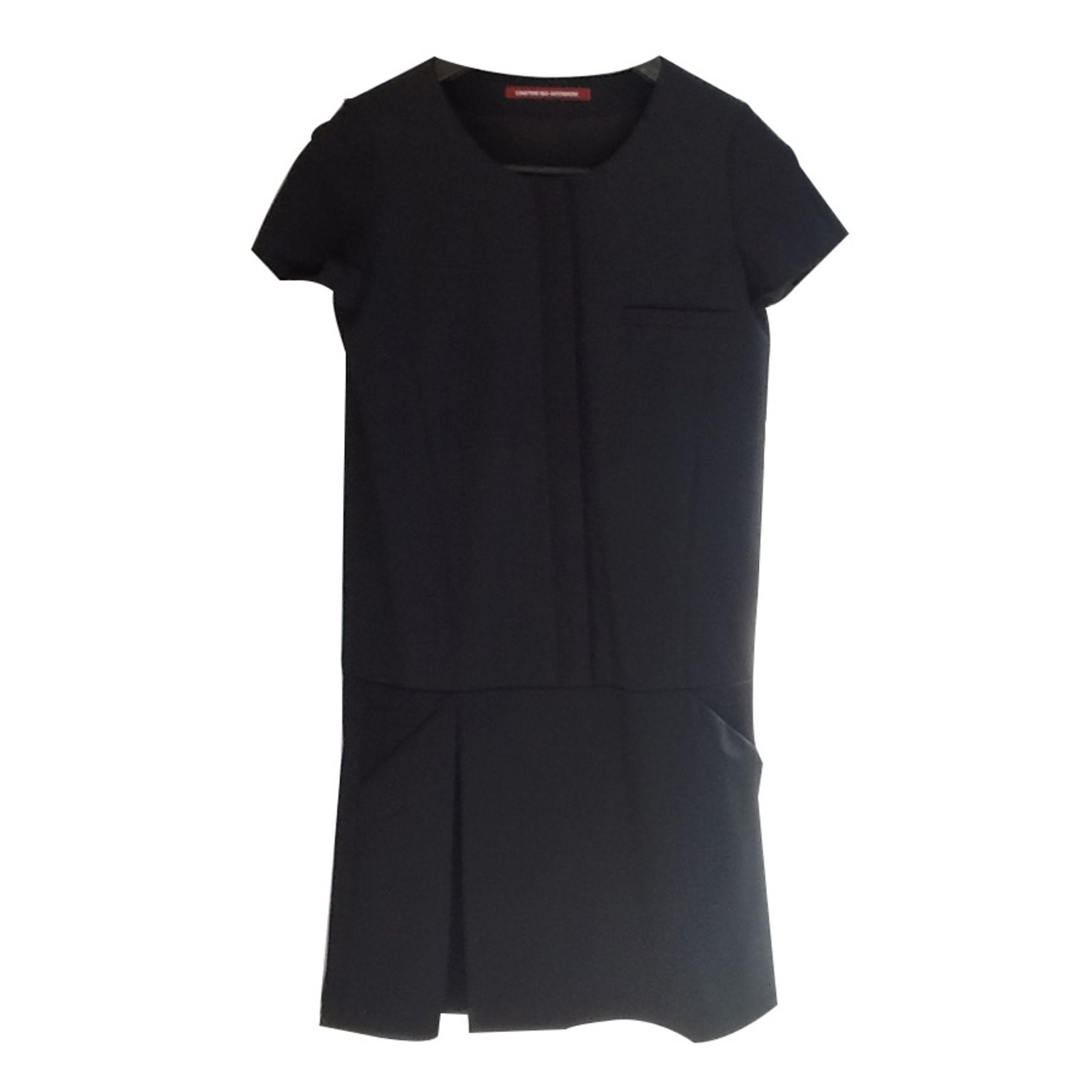 Robes Comptoir Des Cotonniers Robe Noir Laine Noir Ref12882 Joli