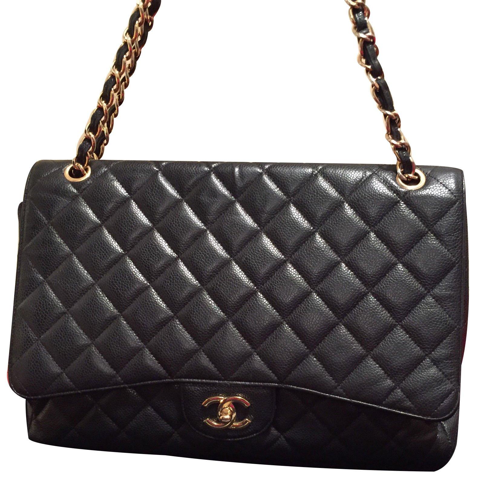 a34af7920e Sacs à main Chanel Classic Cuir Noir ref.12923 - Joli Closet