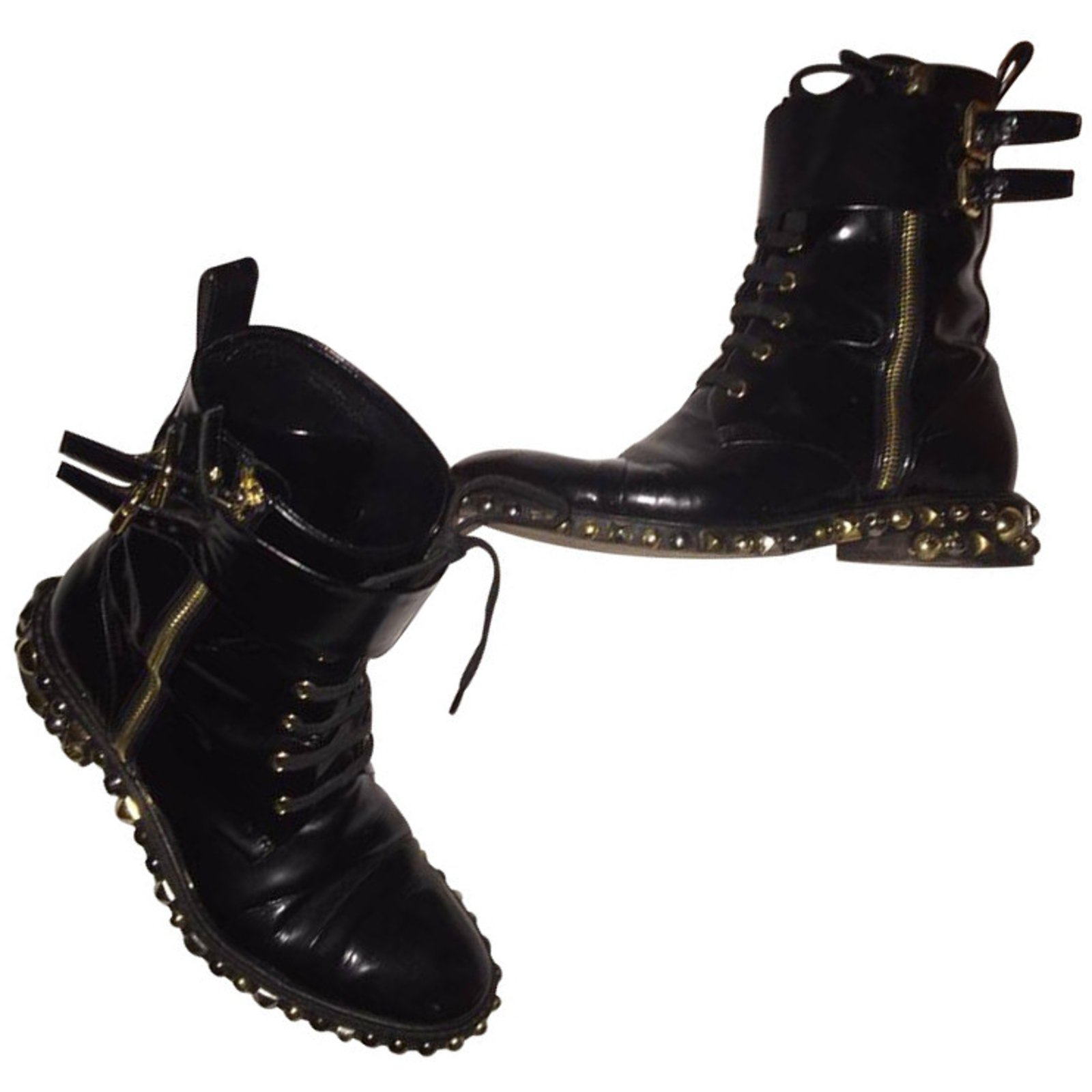 91b6a9bc5c48 Louis Vuitton Ankle Boots Ankle Boots Patent leather Black ref.13453 ...