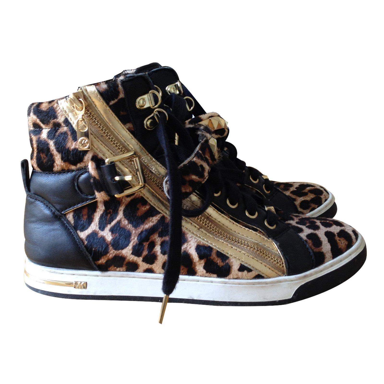 540fc798962e Michael Kors Sneakers Sneakers Leather Leopard print ref.13547 ...