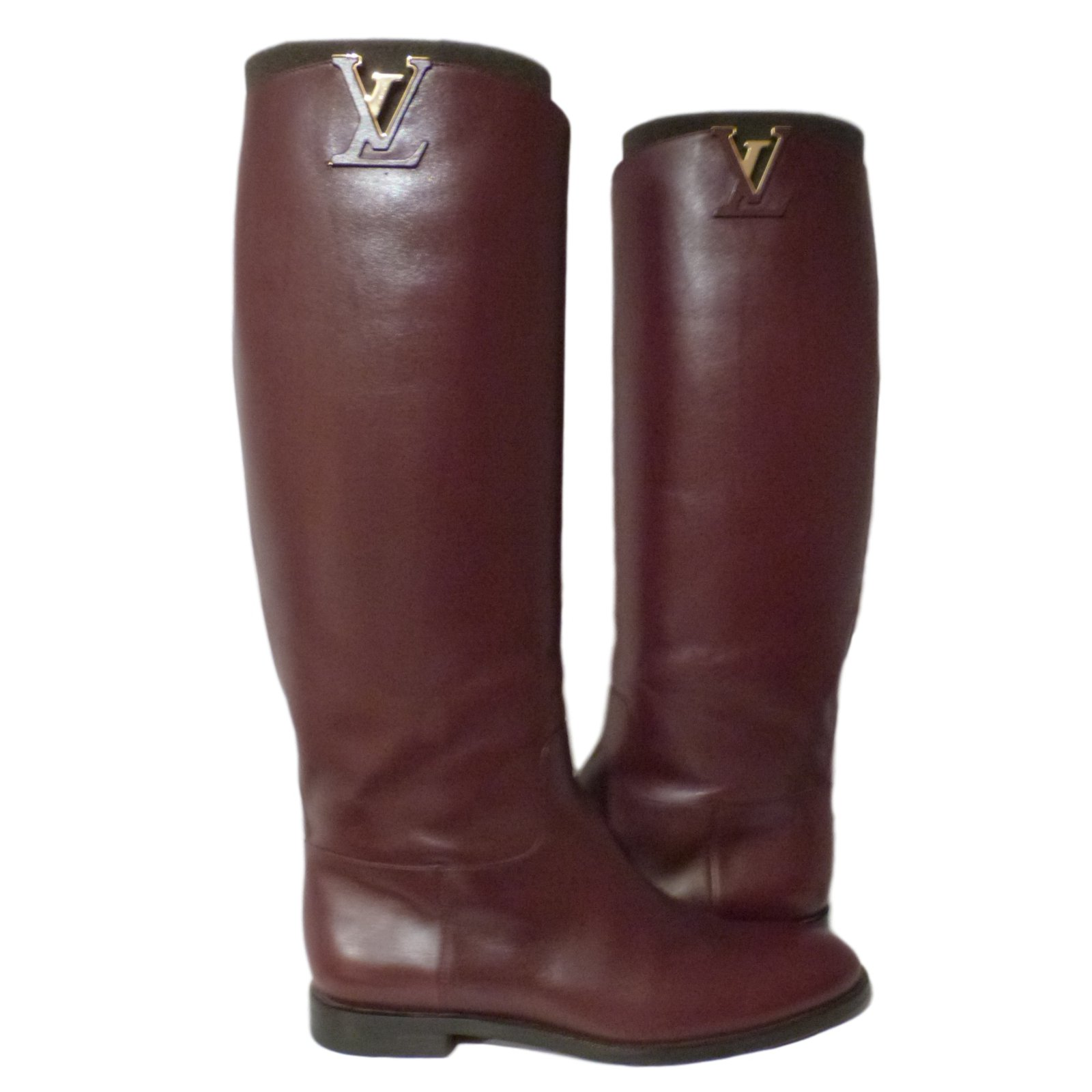Bottes Louis Vuitton Héritage Cuir Bordeaux ref.13707 4fe0ef81249