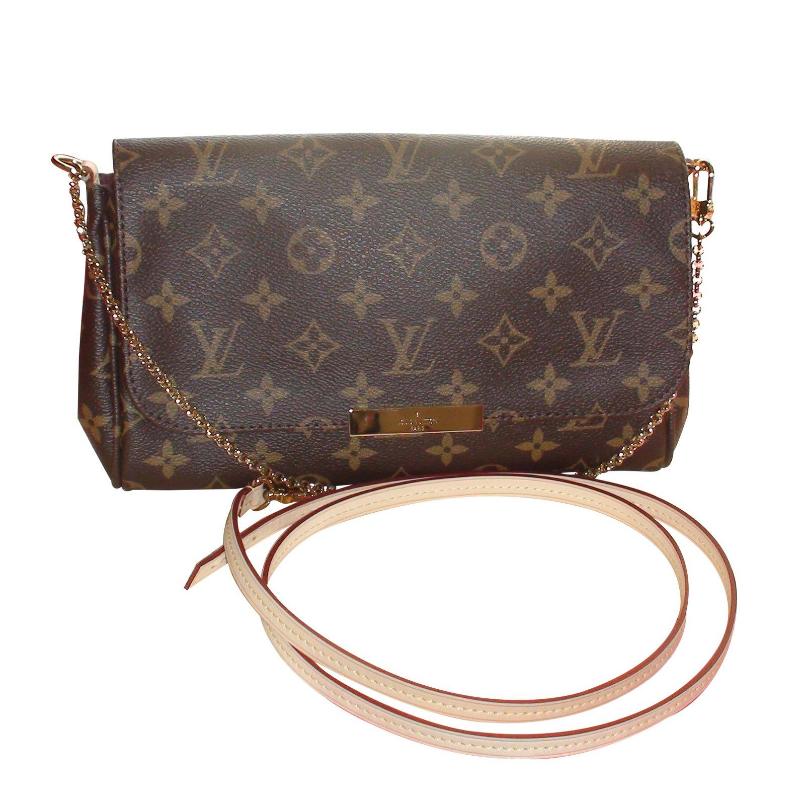 6015b5712be Sacs à main Louis Vuitton Sac à main Louis Vuitton Favorite MM Cuir Marron  ref.