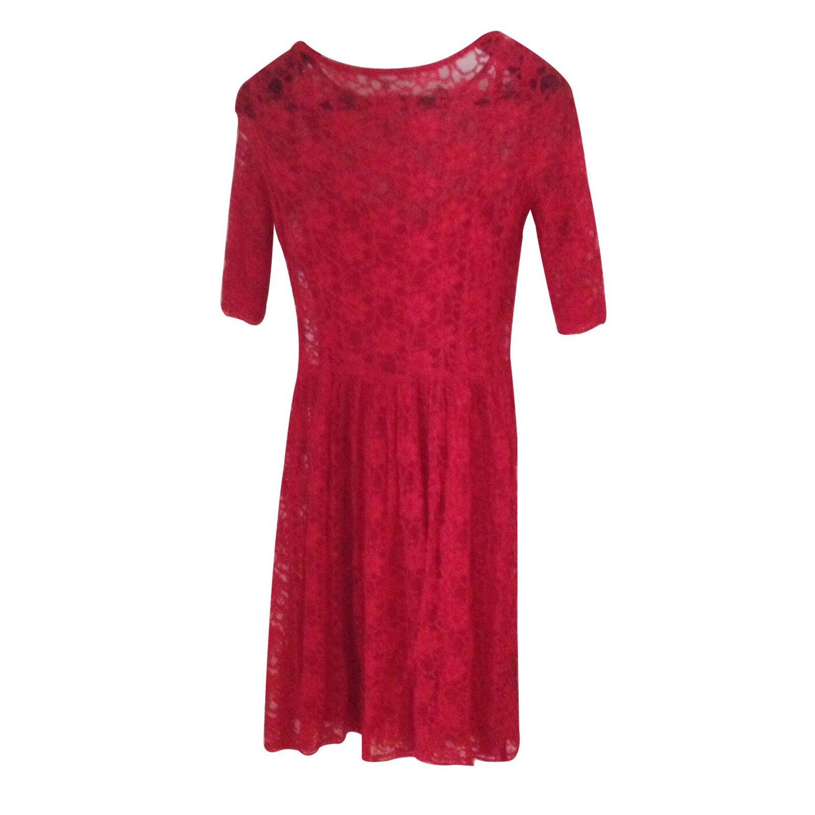 robes autre marque robe etam dentelle rouge joli closet. Black Bedroom Furniture Sets. Home Design Ideas