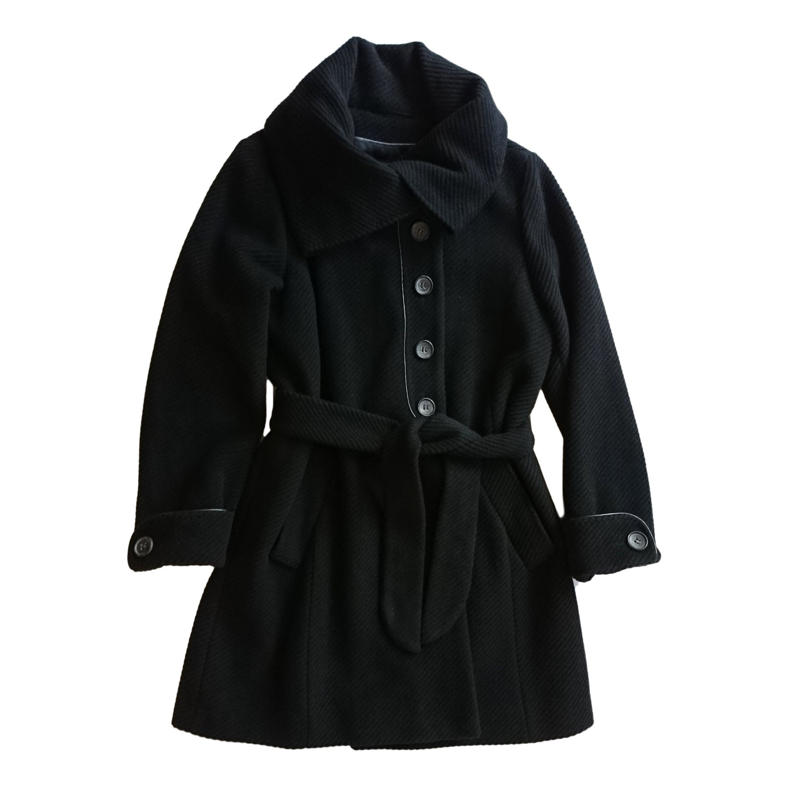 manteaux gerard darel manteau laine noir joli closet. Black Bedroom Furniture Sets. Home Design Ideas